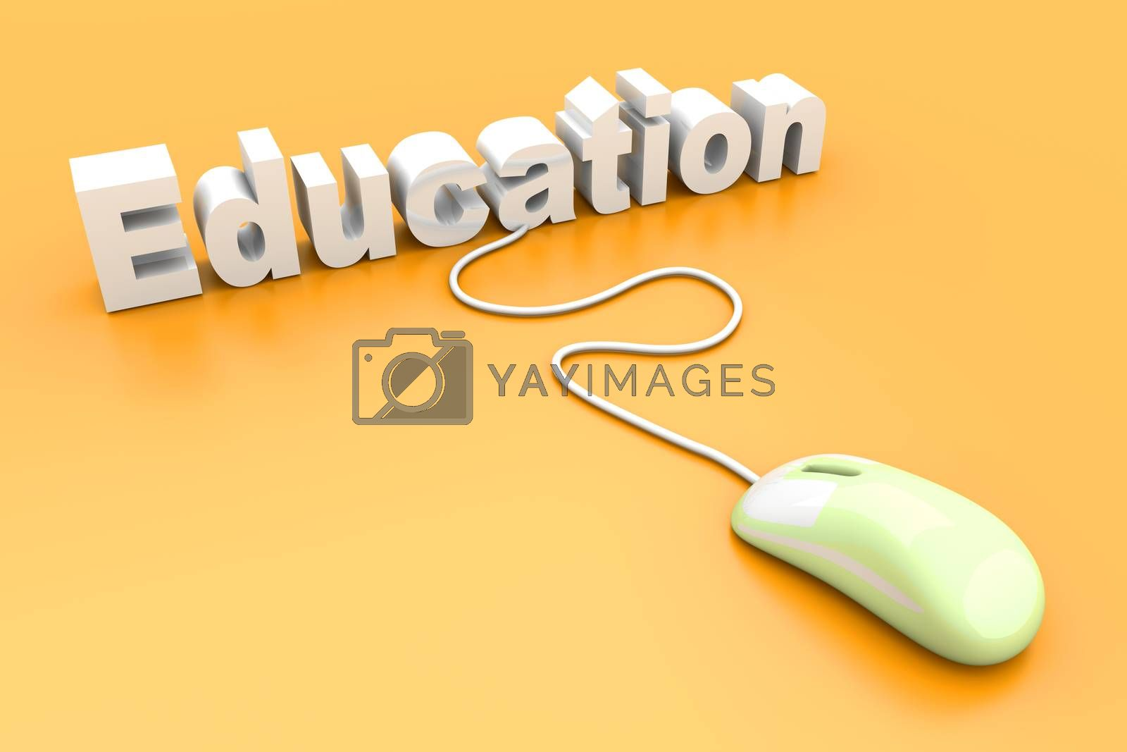 Online Education. 3D rendered Illustration.