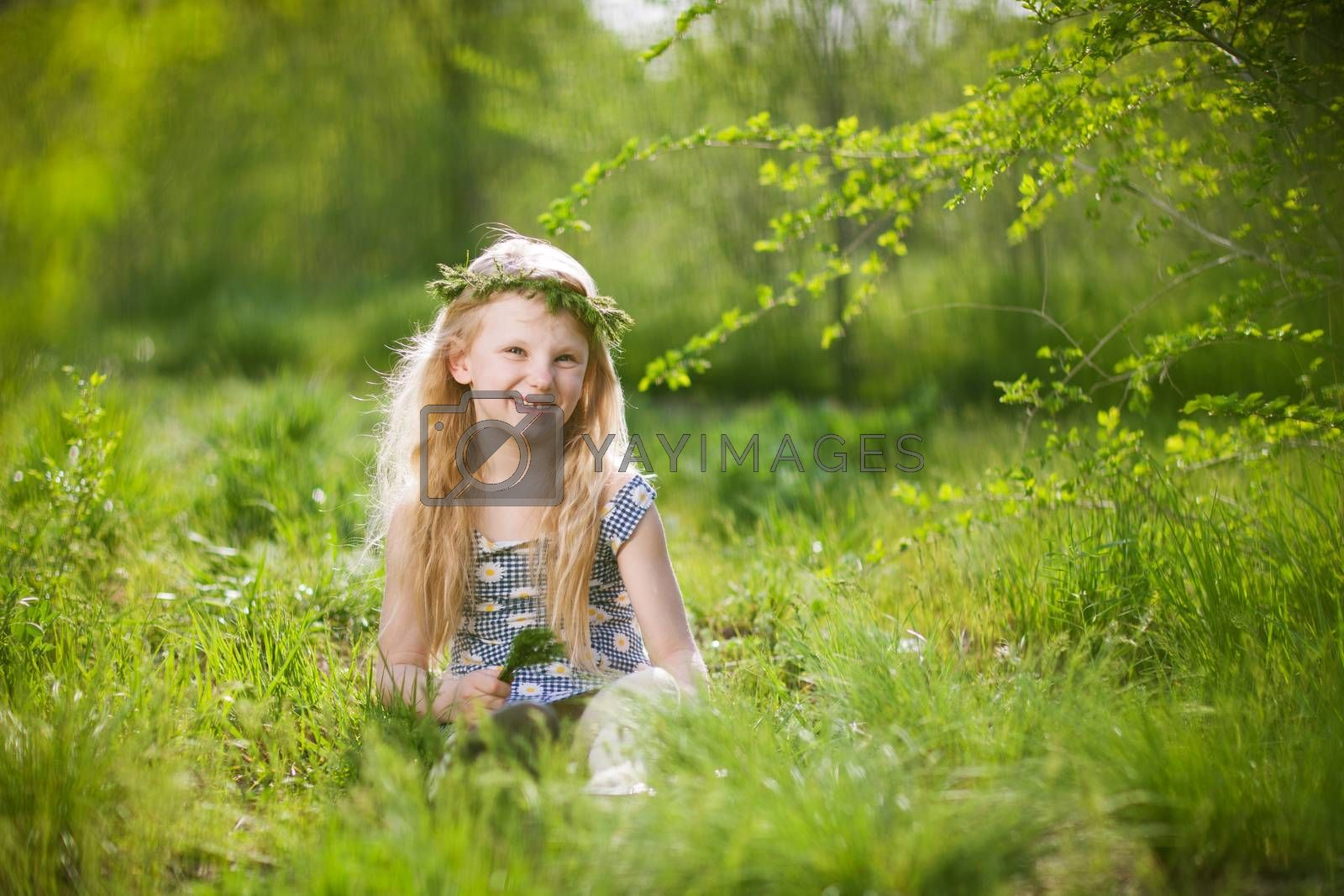 girl in the park at spring