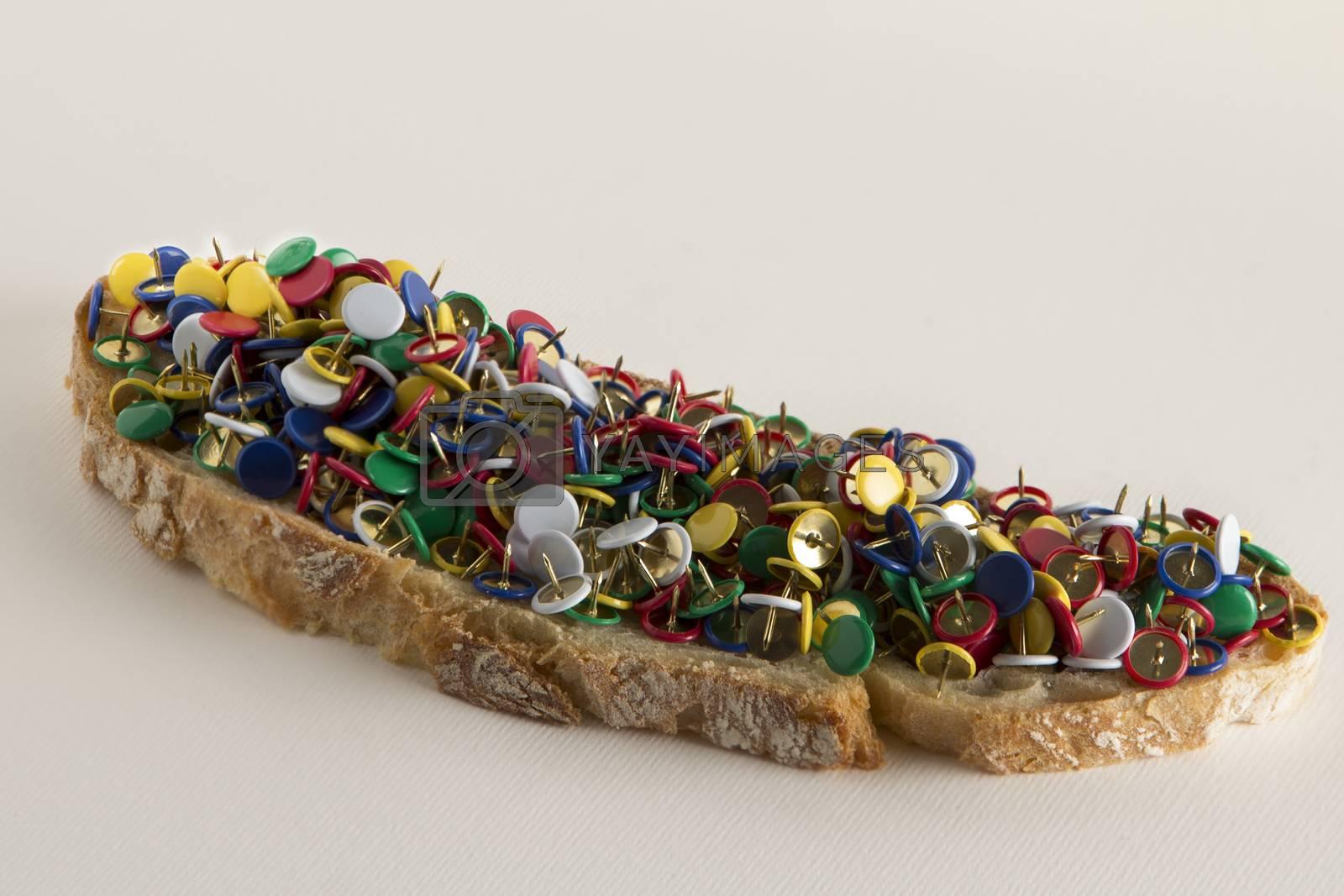 Italian bread and pins