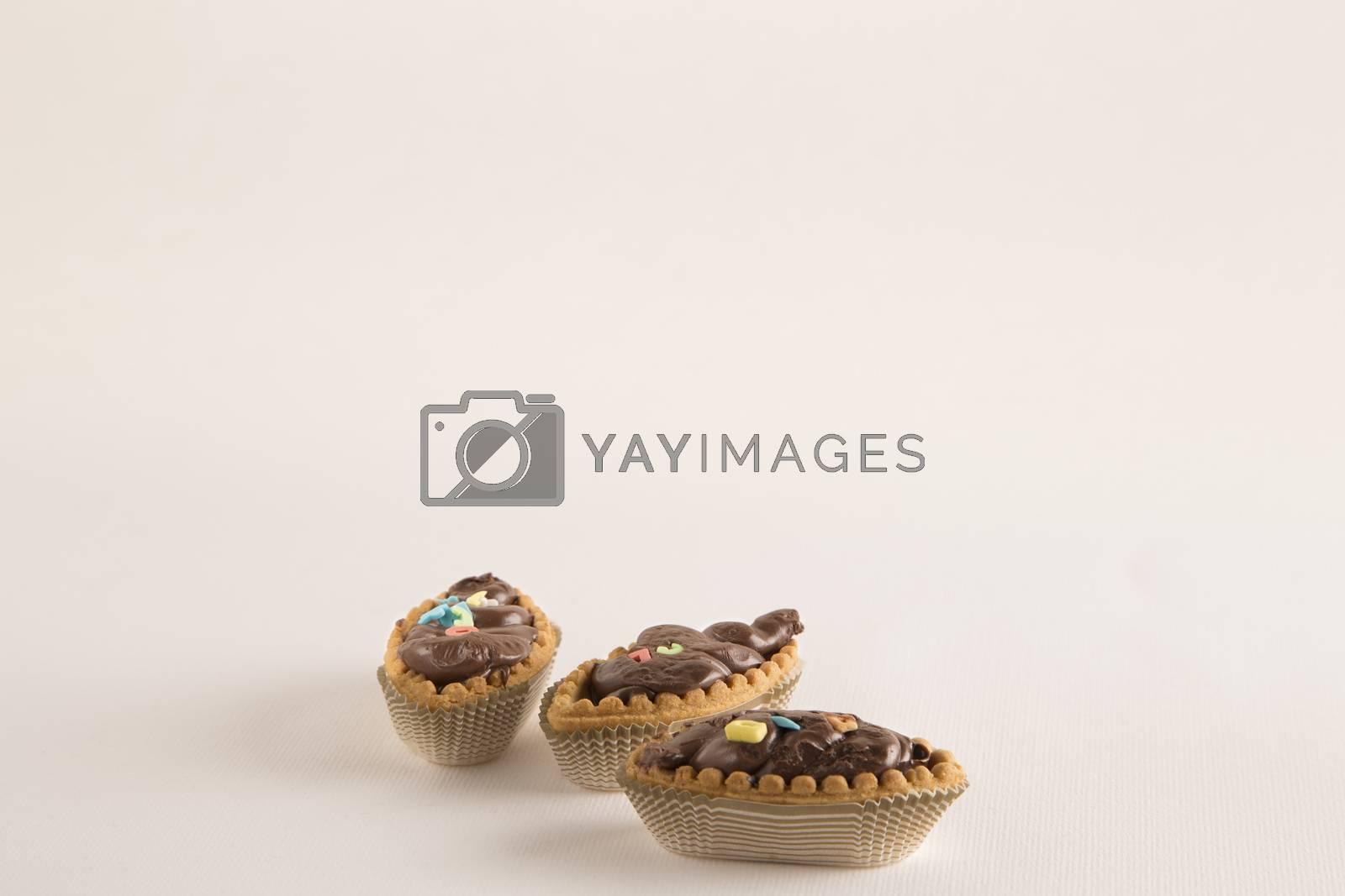 Italian Chocolate boat shaped cakes