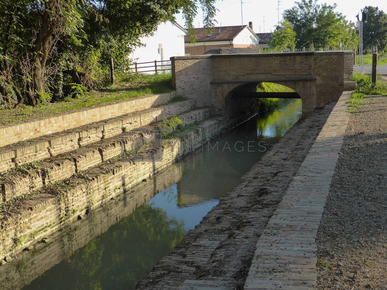 Royalty free image of Lugo,Italy - September 22: The Bridge of the Washerwomen in Lugo on September 22, 2013. by paocasa