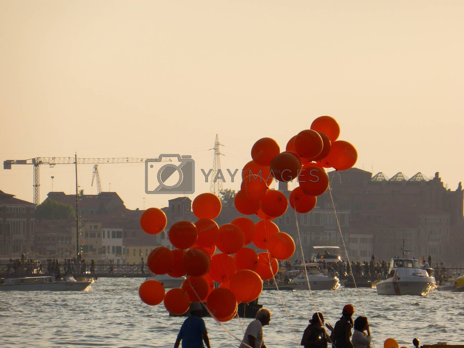 Venice, Italy ��� July, 20: the Festival of the Redeemer in Venice on July 20, 2013. From 1577, the Venetians��� favourite event is a thanksgiving to Jesus Christ for the end of the Plague in 1577. The fireworks show is the best in Europe