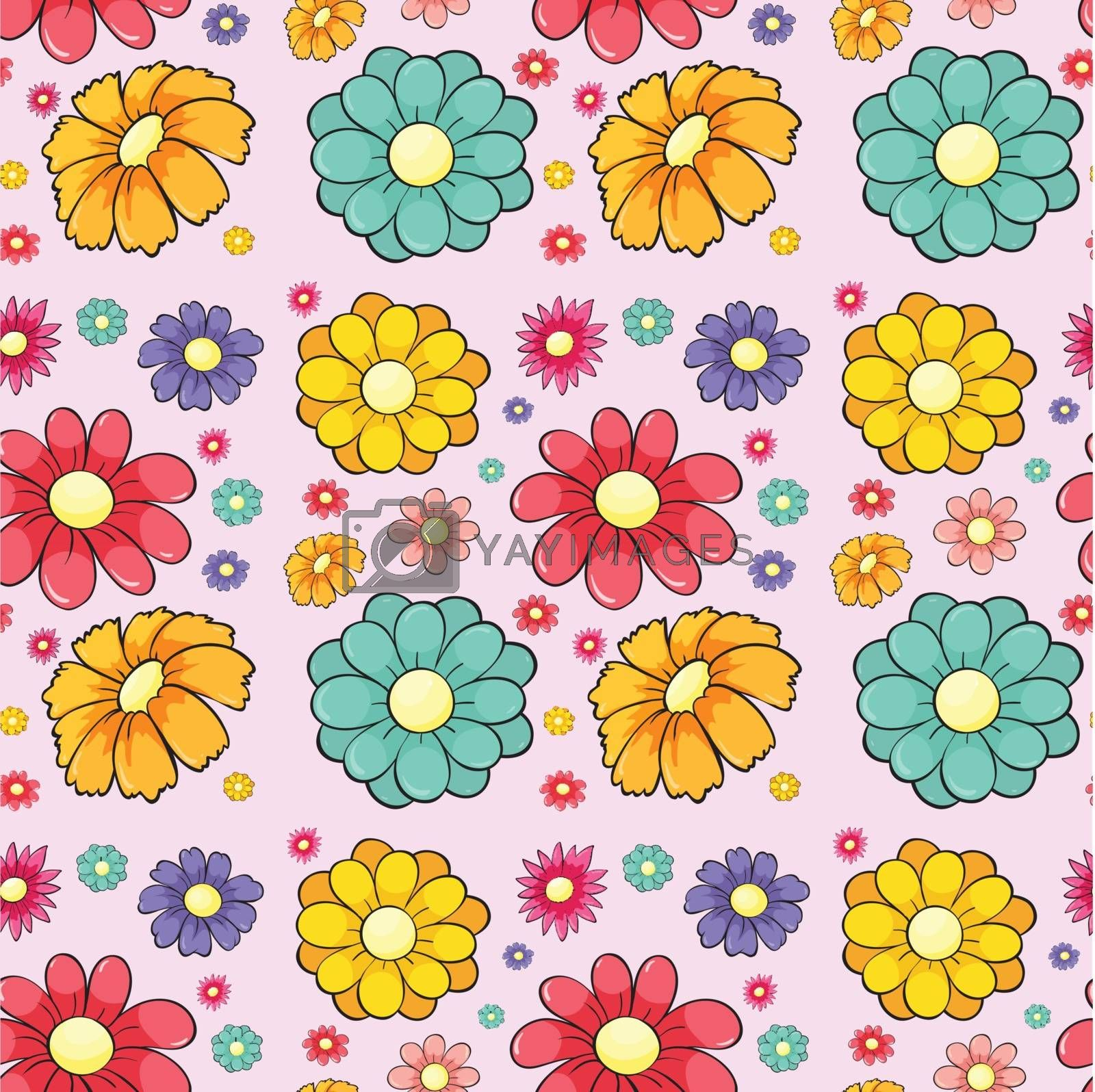 Illustration of a flower seamless