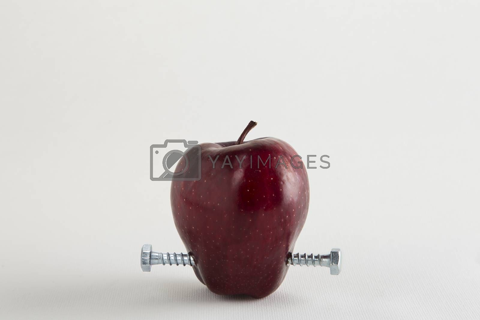 Apple with bolts