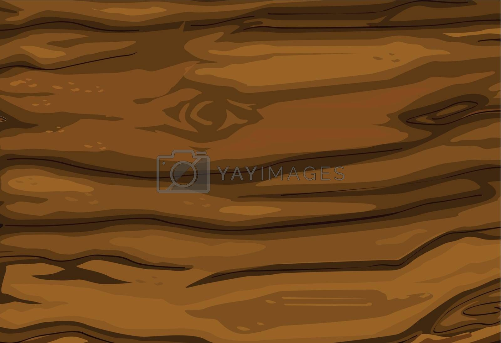 Illustrated texture of wood grain