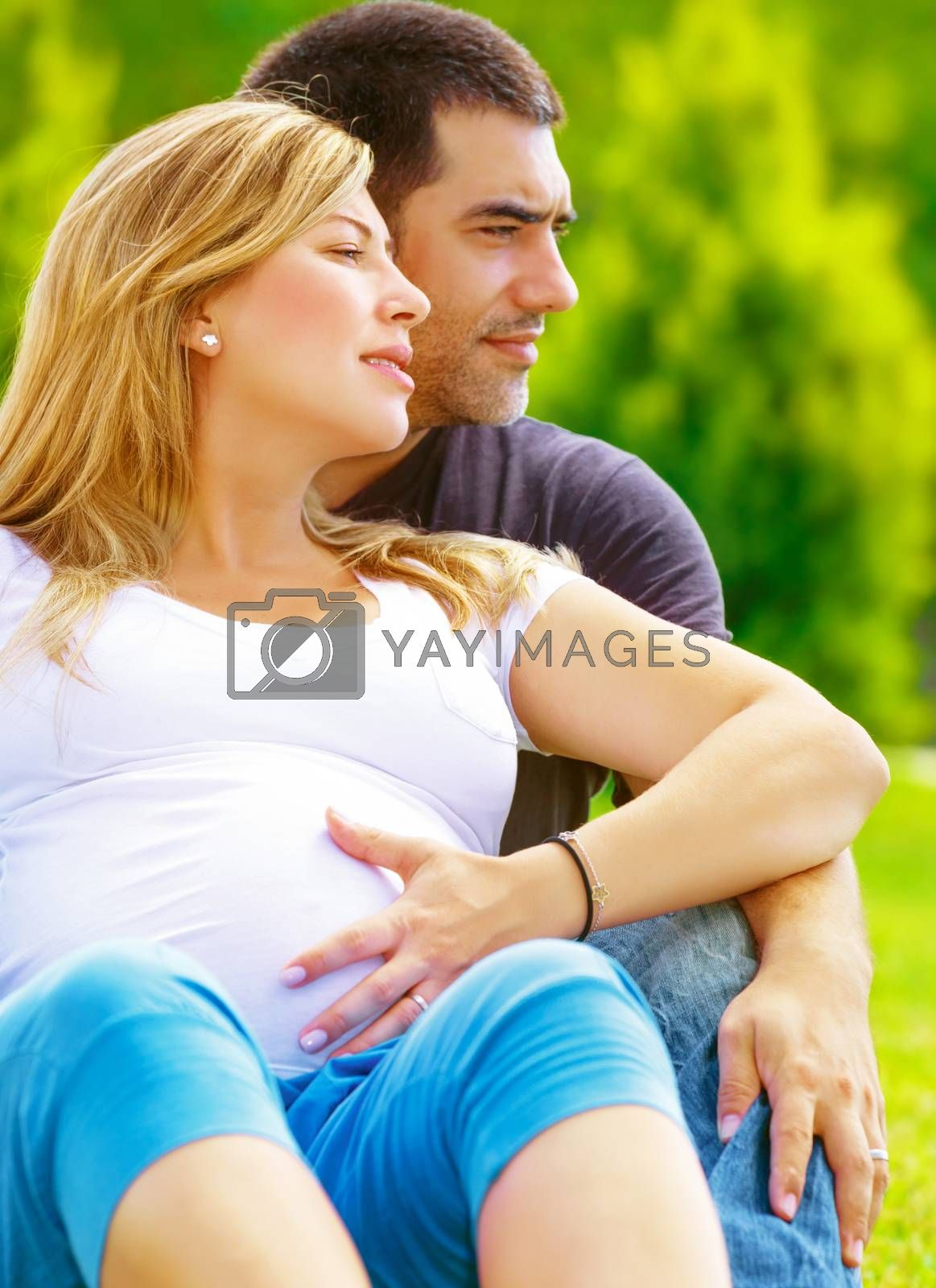 Royalty free image of Happy family awaiting baby by Anna_Omelchenko