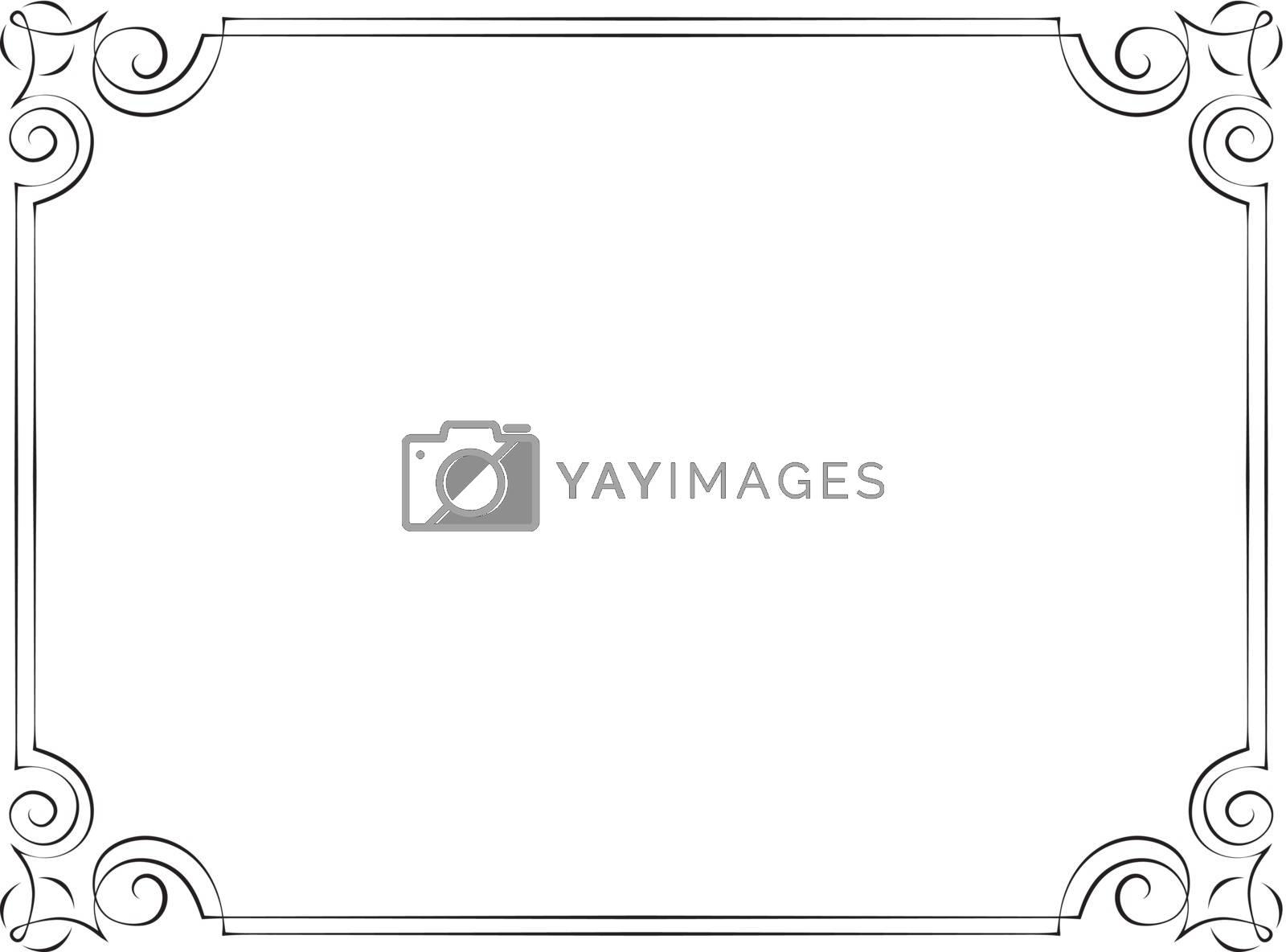 Vintage vector frame by pzRomashka