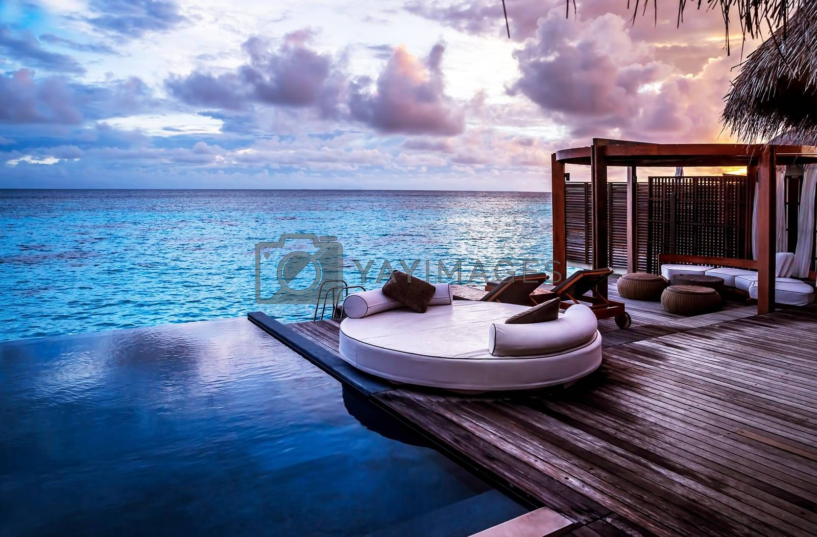 Royalty free image of Luxury beach resort by Anna_Omelchenko