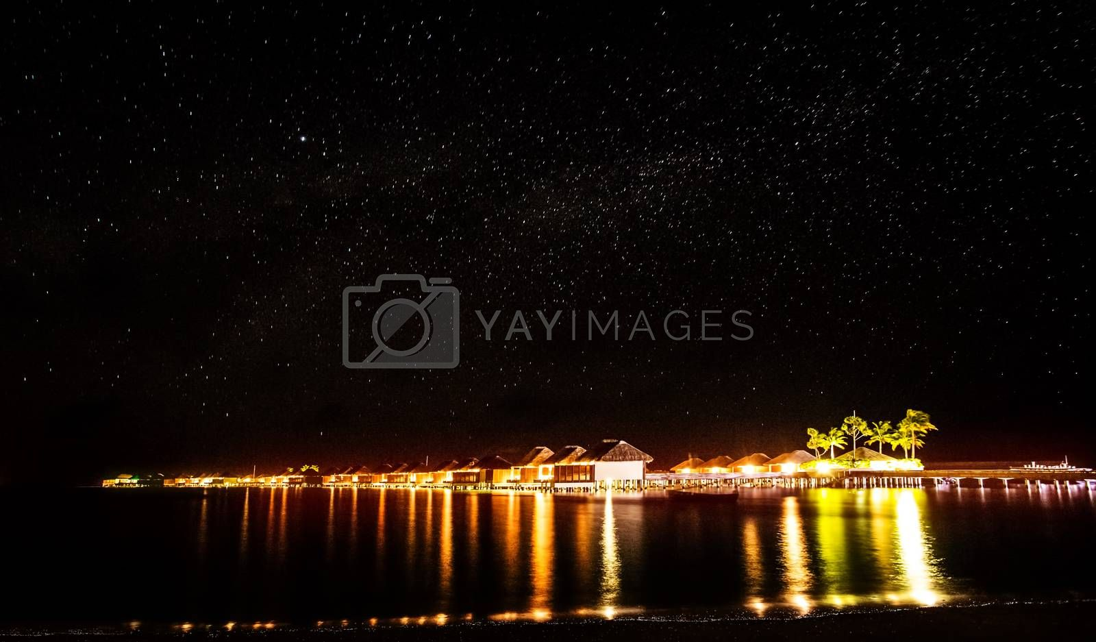 Royalty free image of Night on tropical resort by Anna_Omelchenko