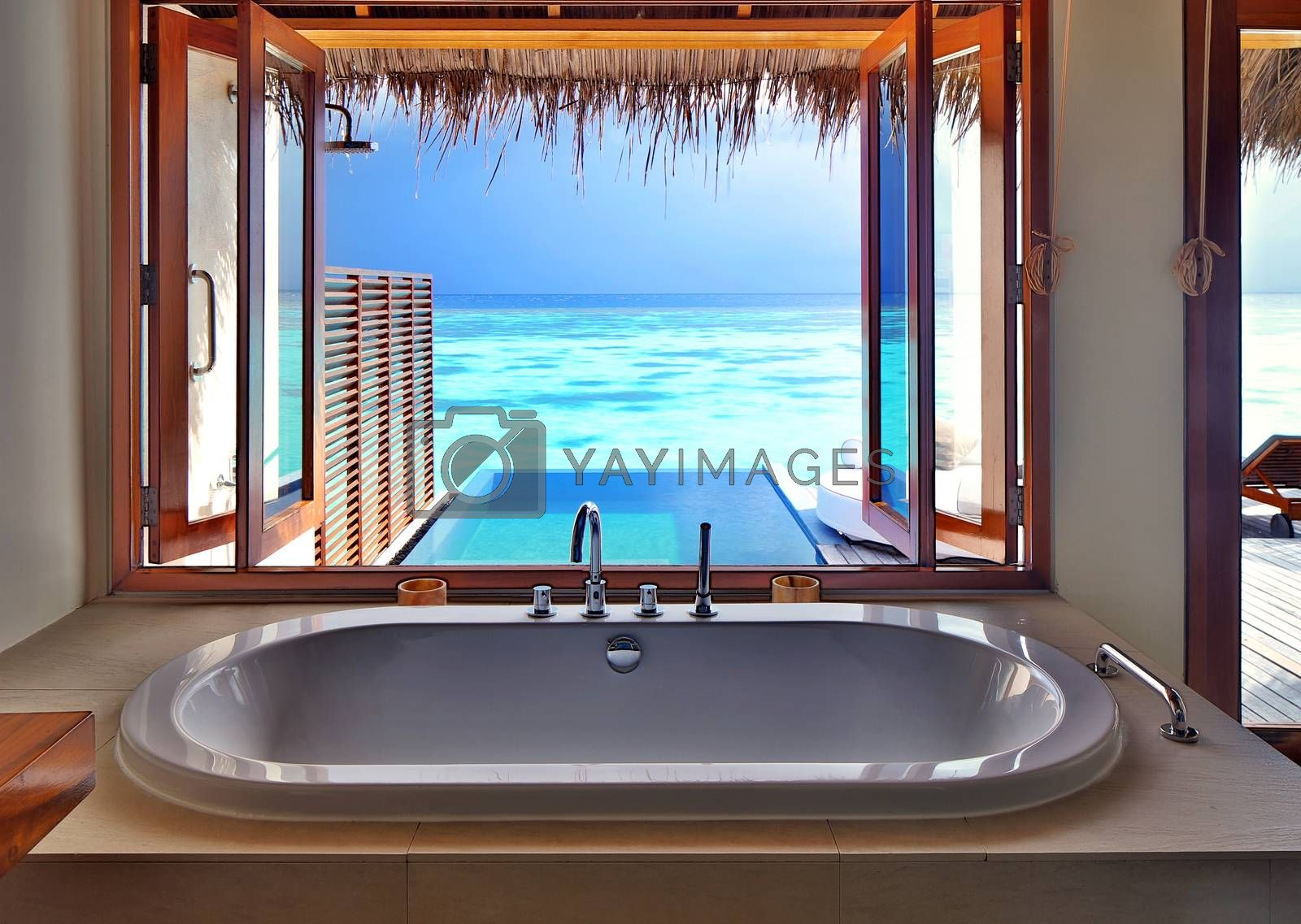 Royalty free image of Luxury interior on beach resort by Anna_Omelchenko