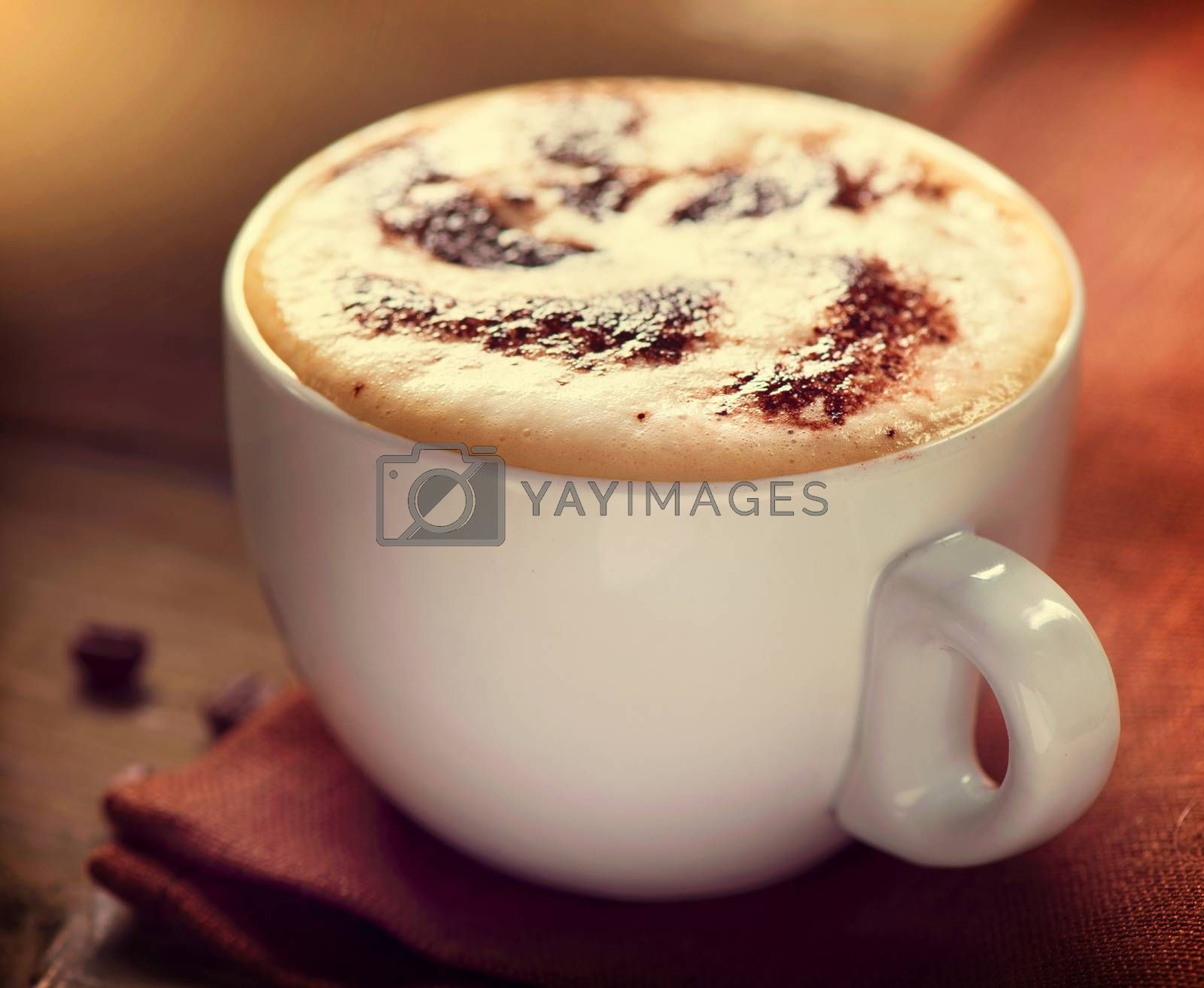 Cappuccino. Cup of Latte Coffee by SubbotinaA