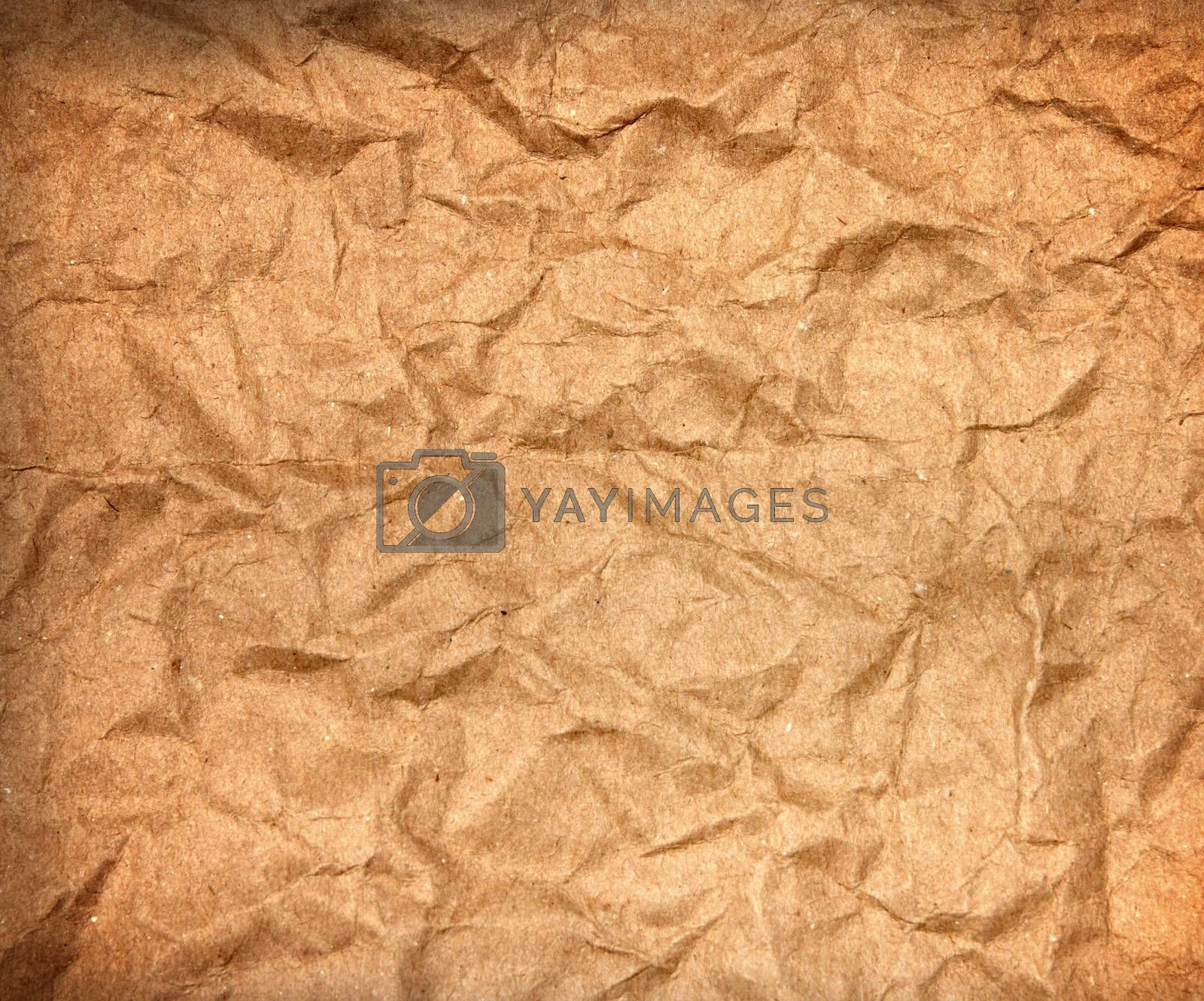 Royalty free image of Vintage old Crumpled paper texture by wyoosumran