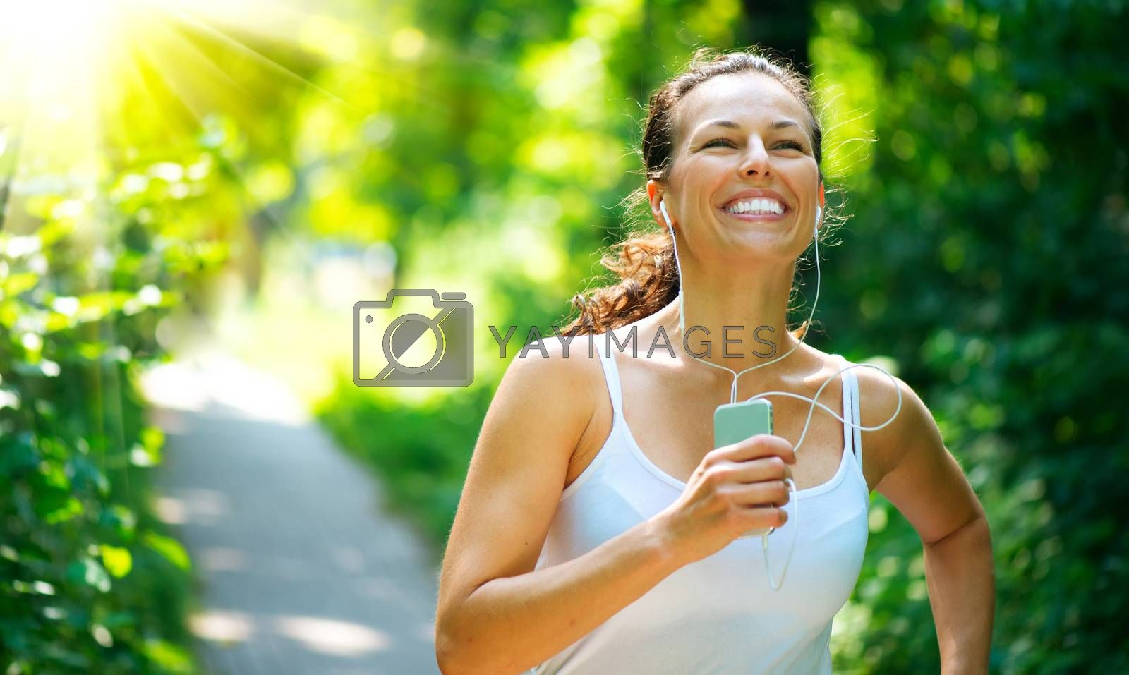 Running woman. Outdoor Workout in a Park by SubbotinaA
