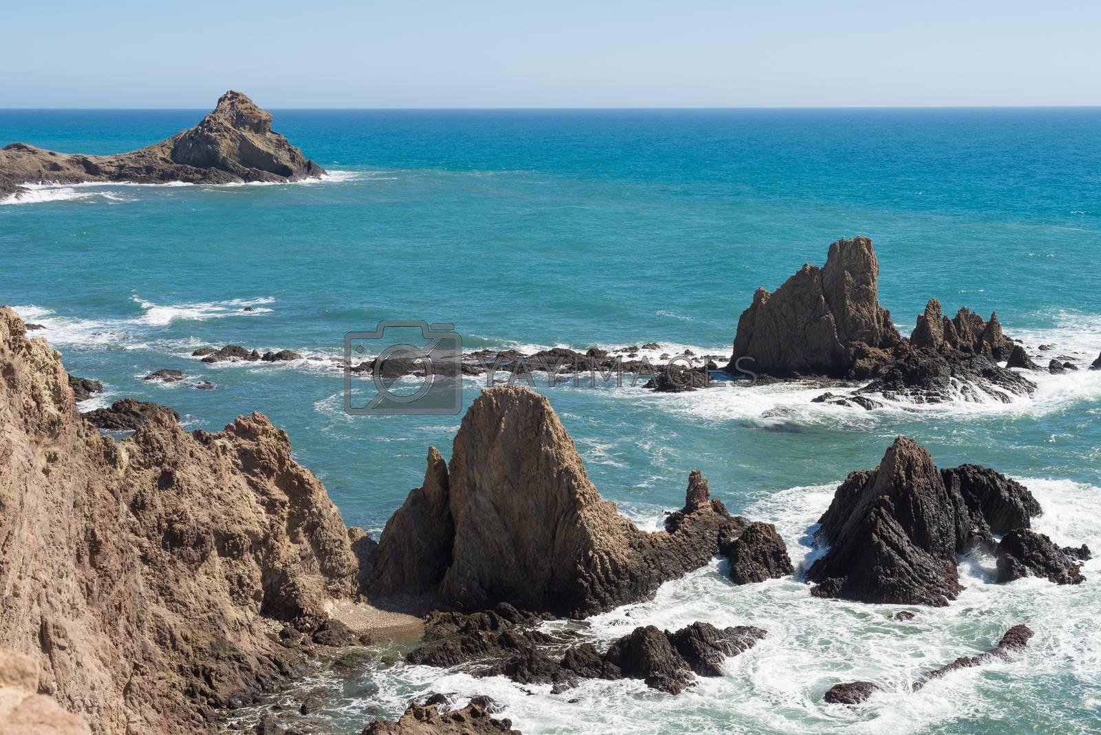 Royalty free image of Rocky coast by hemeroskopion