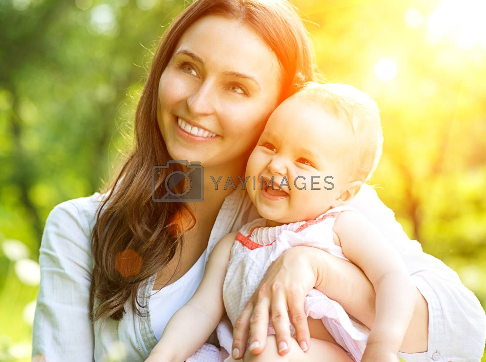 Beautiful Mother And Baby Outdoors. Nature by SubbotinaA
