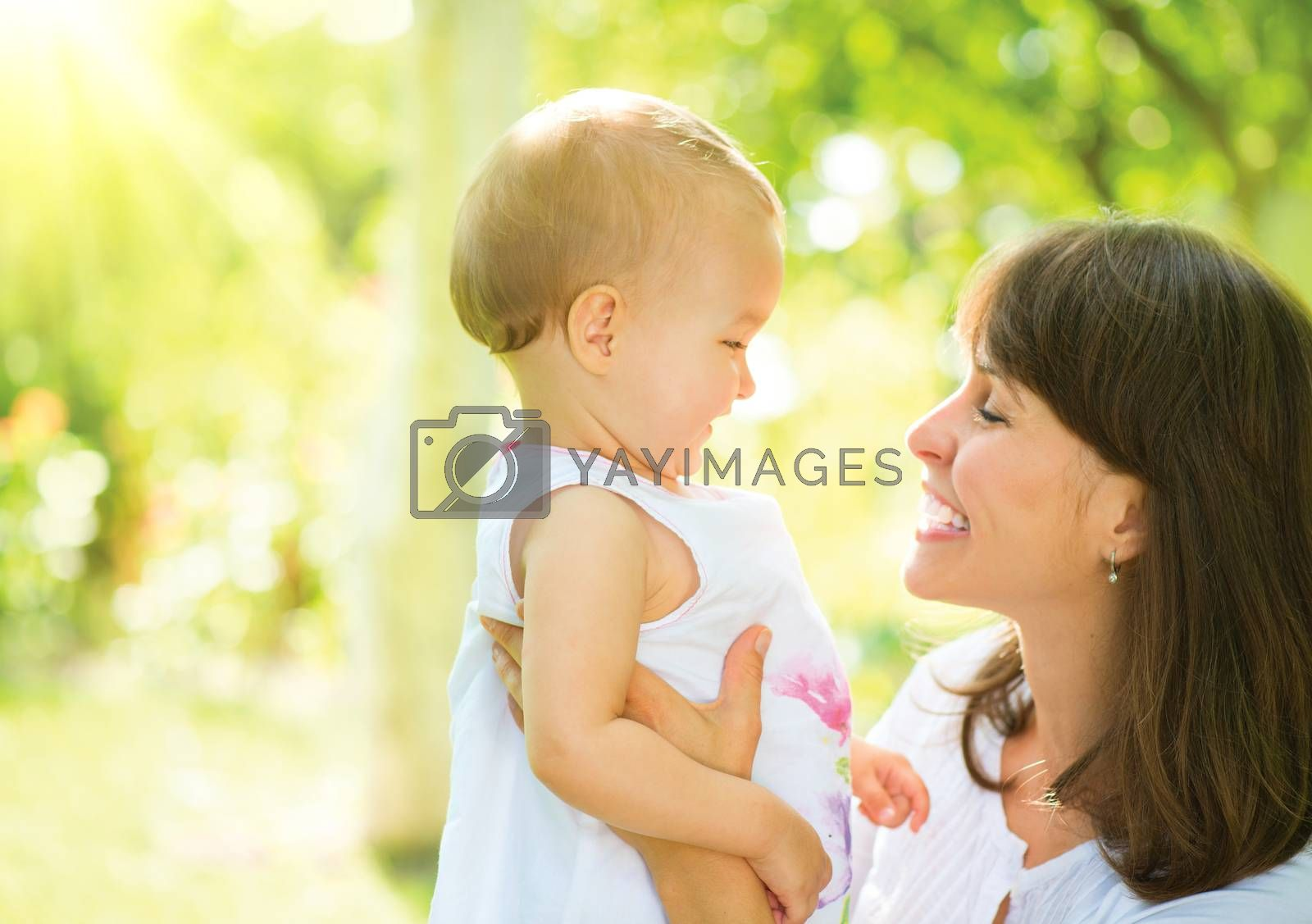 Beautiful Mother And Baby Outdoors. Nature by Subbotina Anna