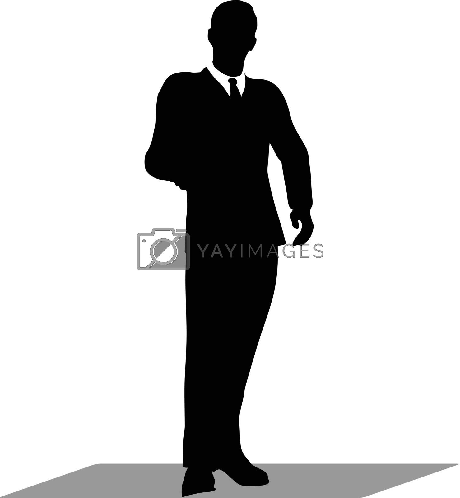 Royalty free image of business handshake silhouette by Istanbul2009