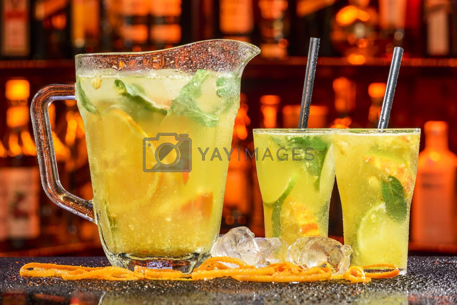 Royalty free image of orange cocktail by emirkoo