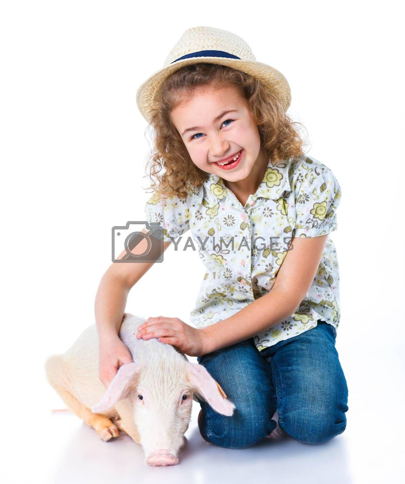 Royalty free image of Little farmer by maxoliki