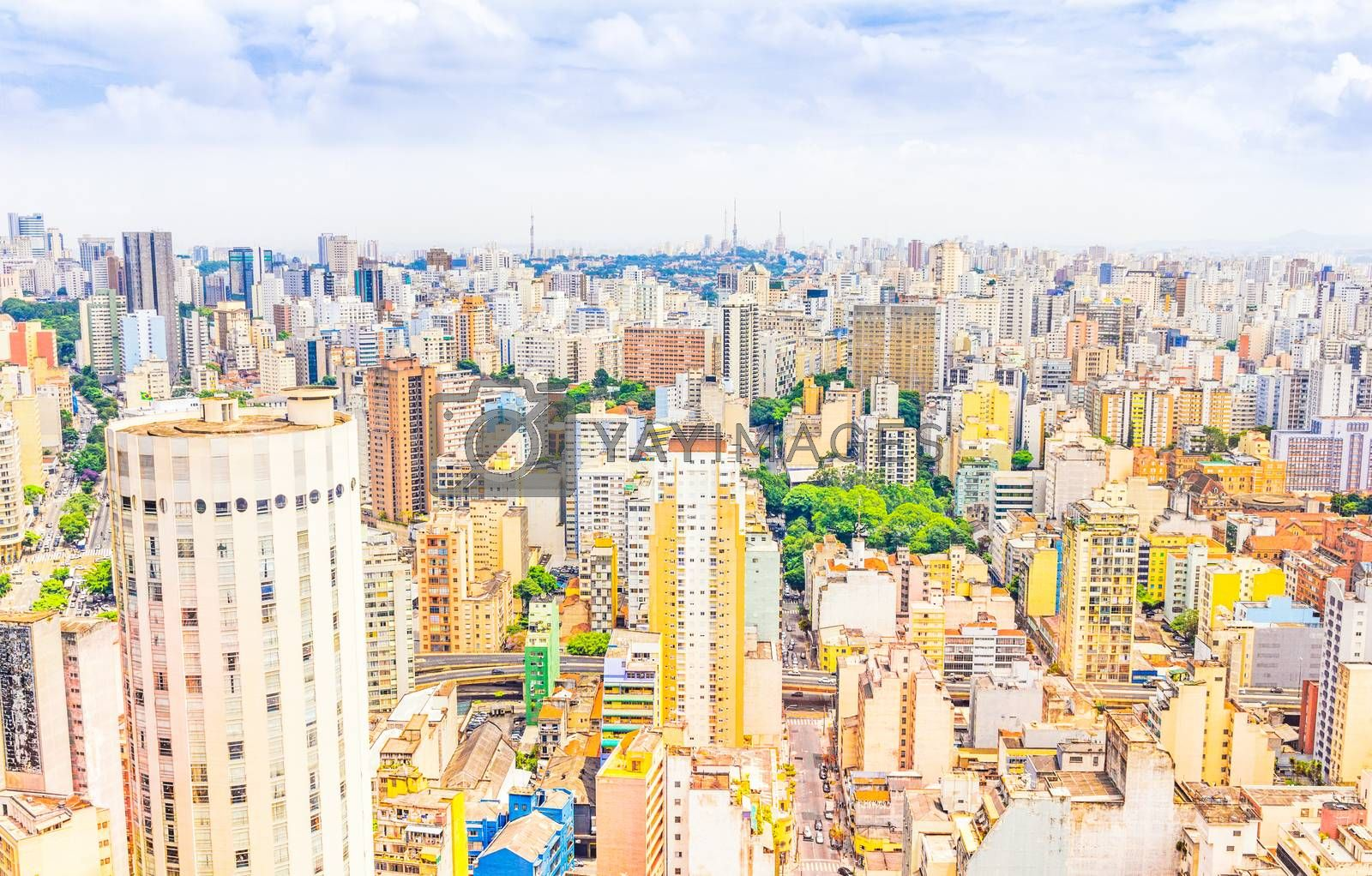 Royalty free image of View of buildings in Sao Paulo, Brazil by gianliguori