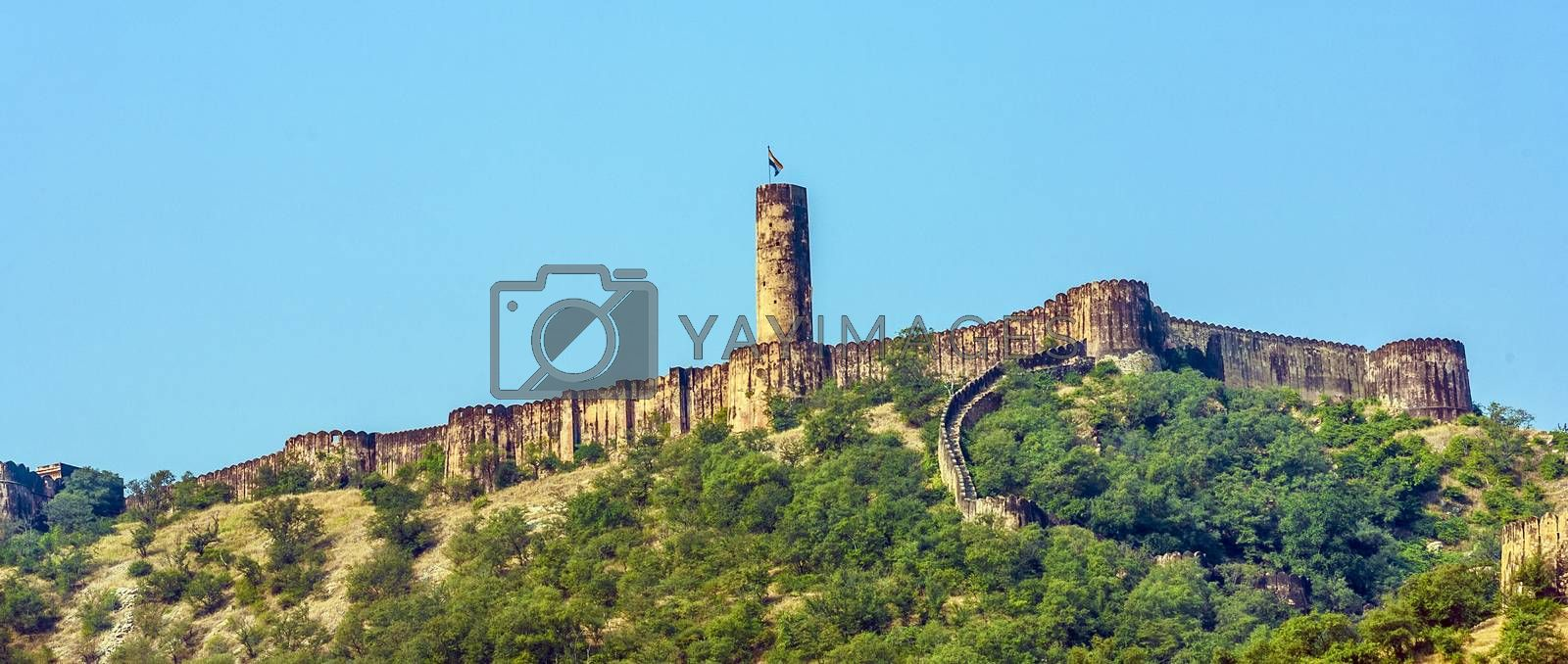 Royalty free image of Famous Rajasthan landmark - Amber fort, Rajasthan, India  by meinzahn