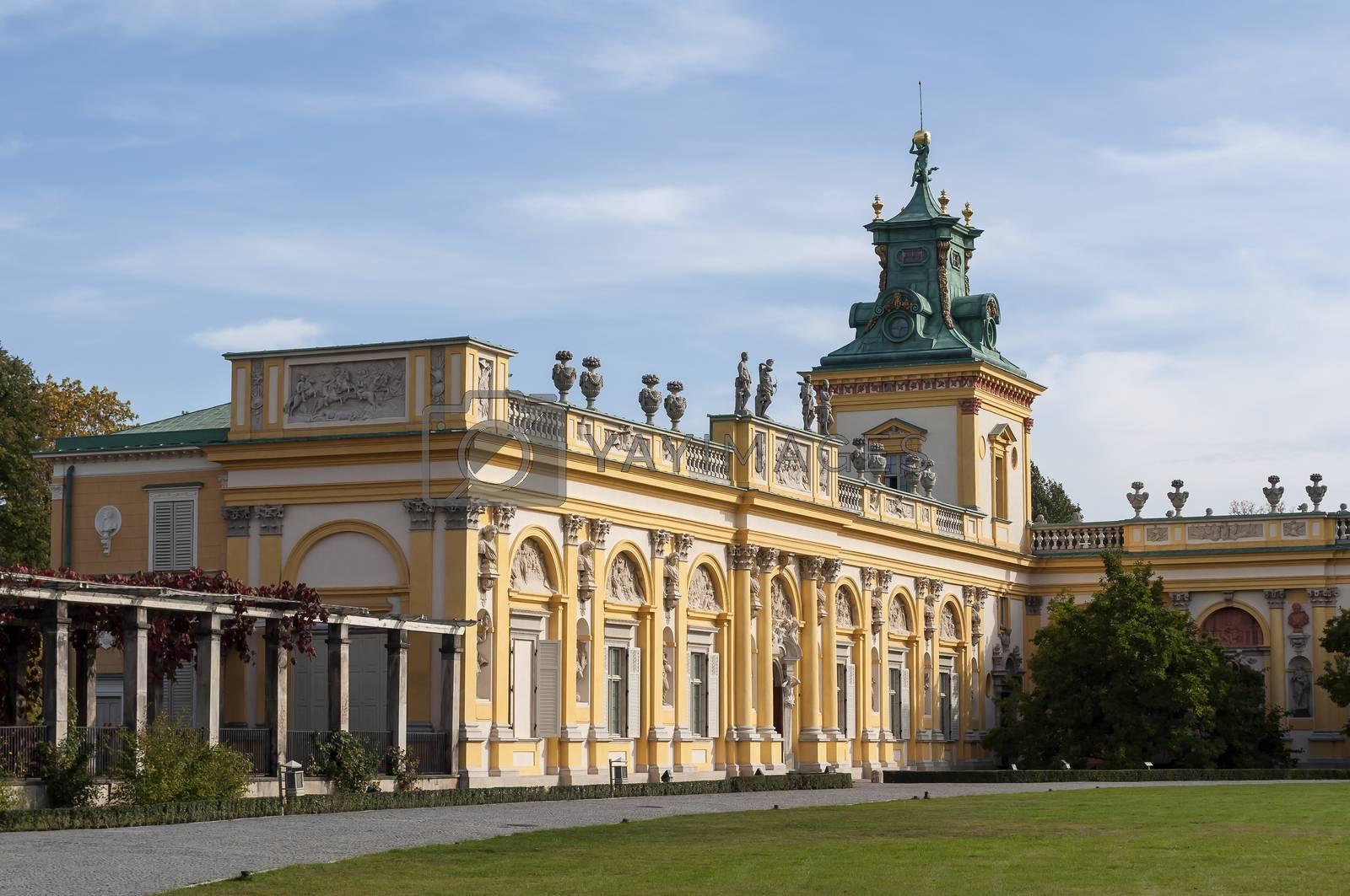 Royalty free image of Wilanow Palace, Warsaw, Poland. by FER737NG