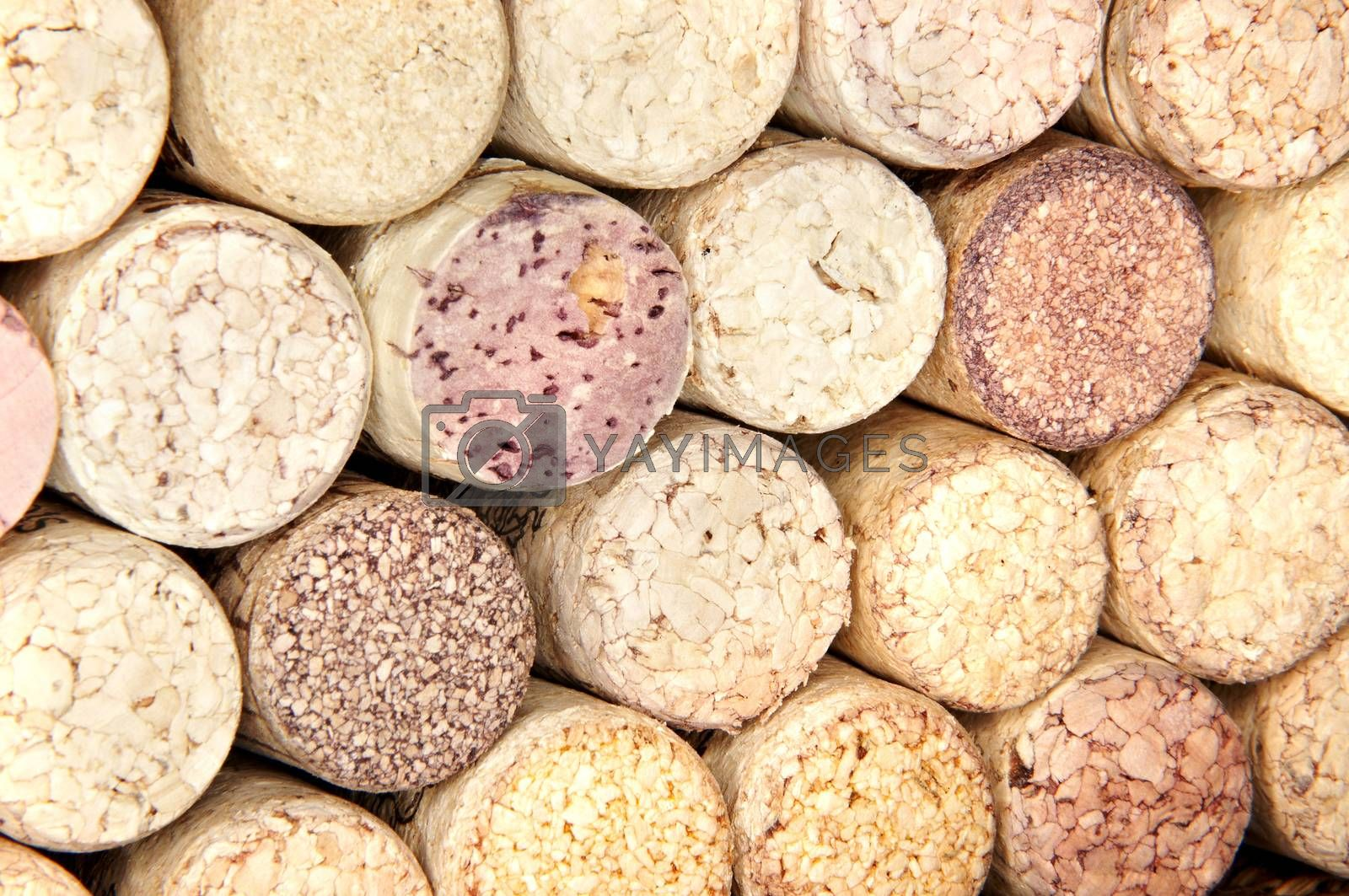 Royalty free image of wine corks by emirkoo