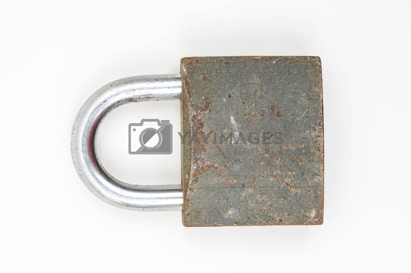 Royalty free image of rusty padlock by emirkoo
