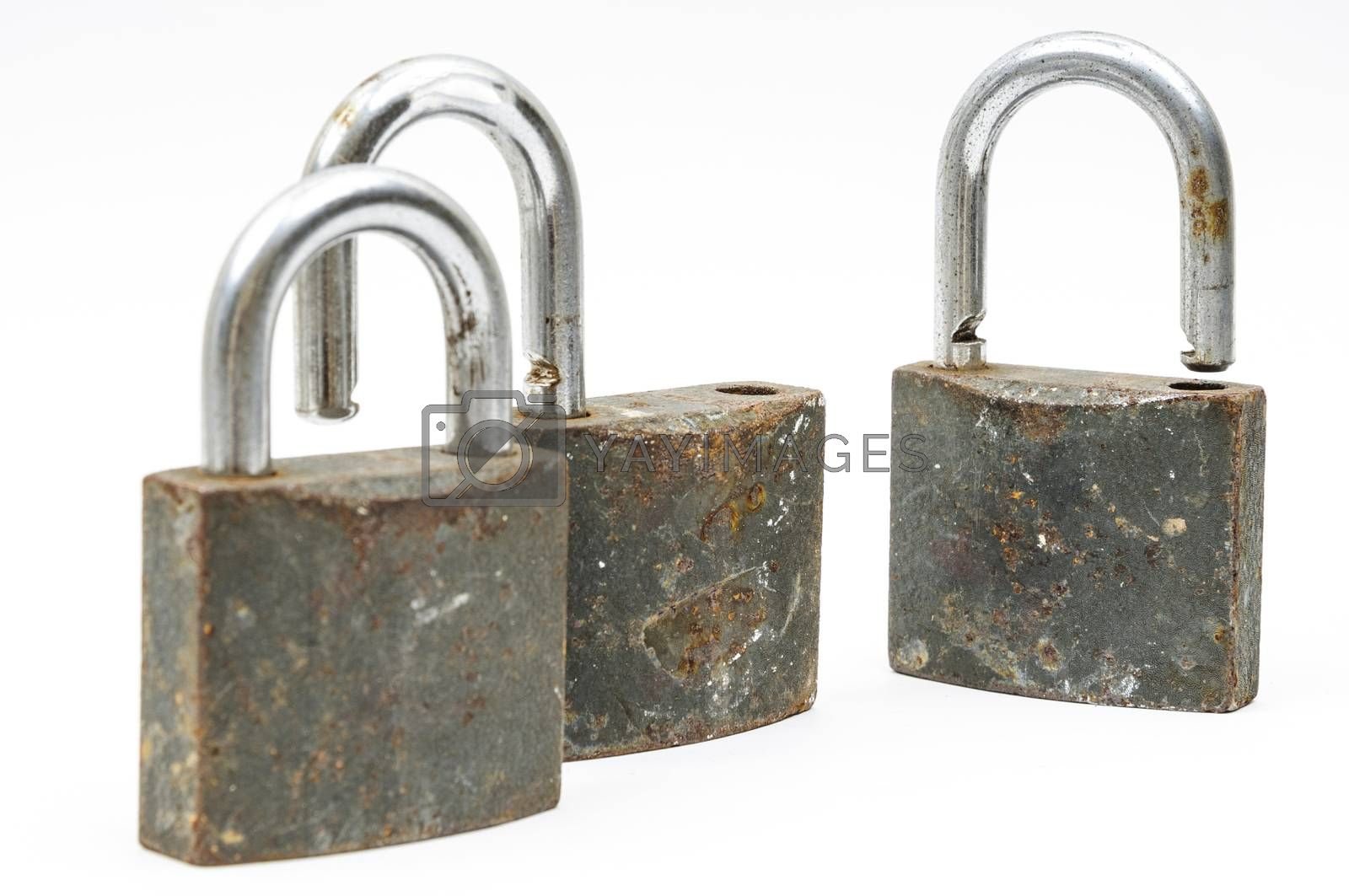 Royalty free image of rusty padlock by emirkoo