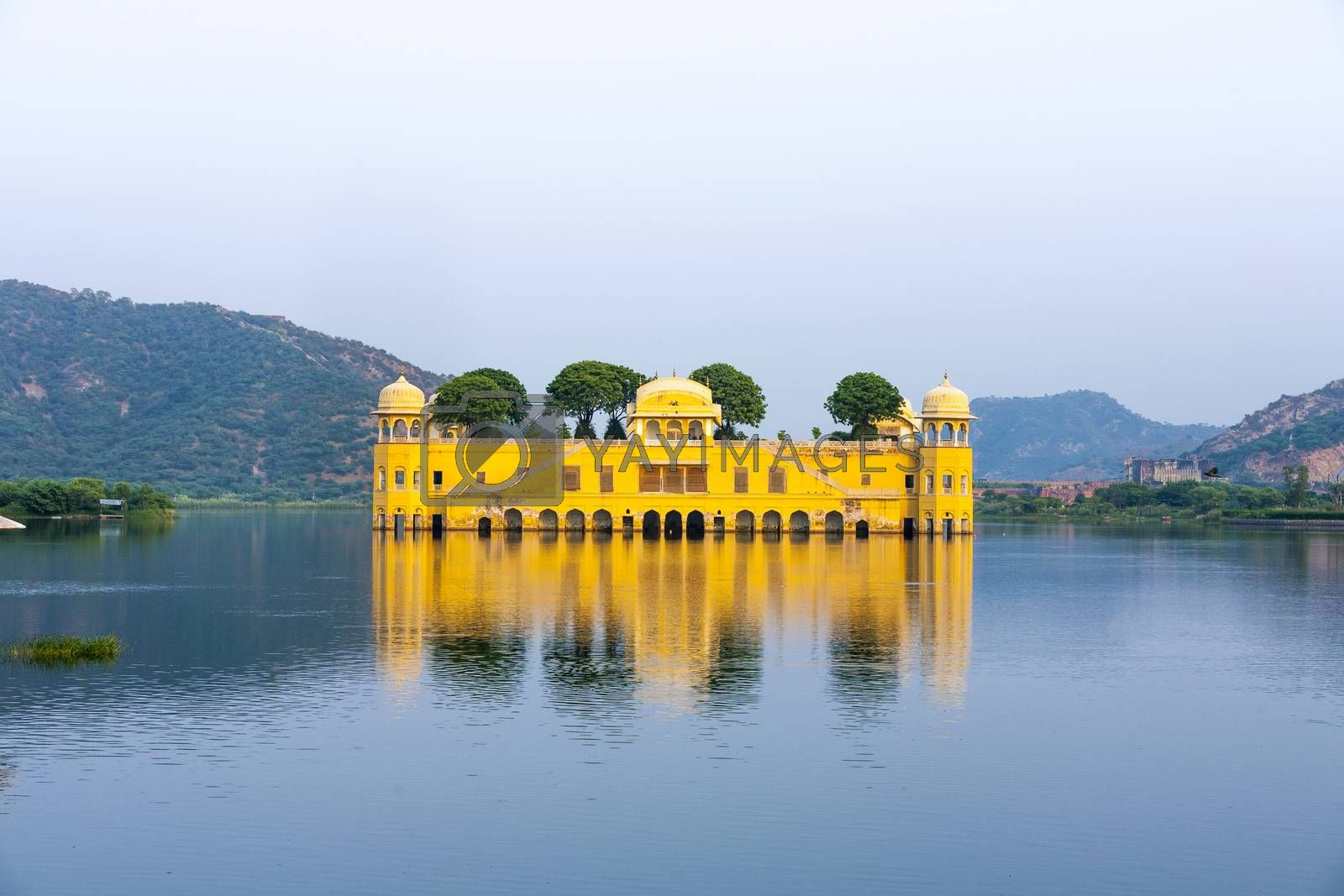 Water Palace (Jal Mahal) in Man Sagar Lake. Jaipur, Rajasthan, I by meinzahn