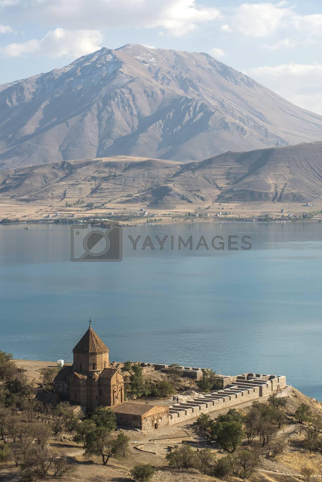 Royalty free image of Akdamar Island by emirkoo