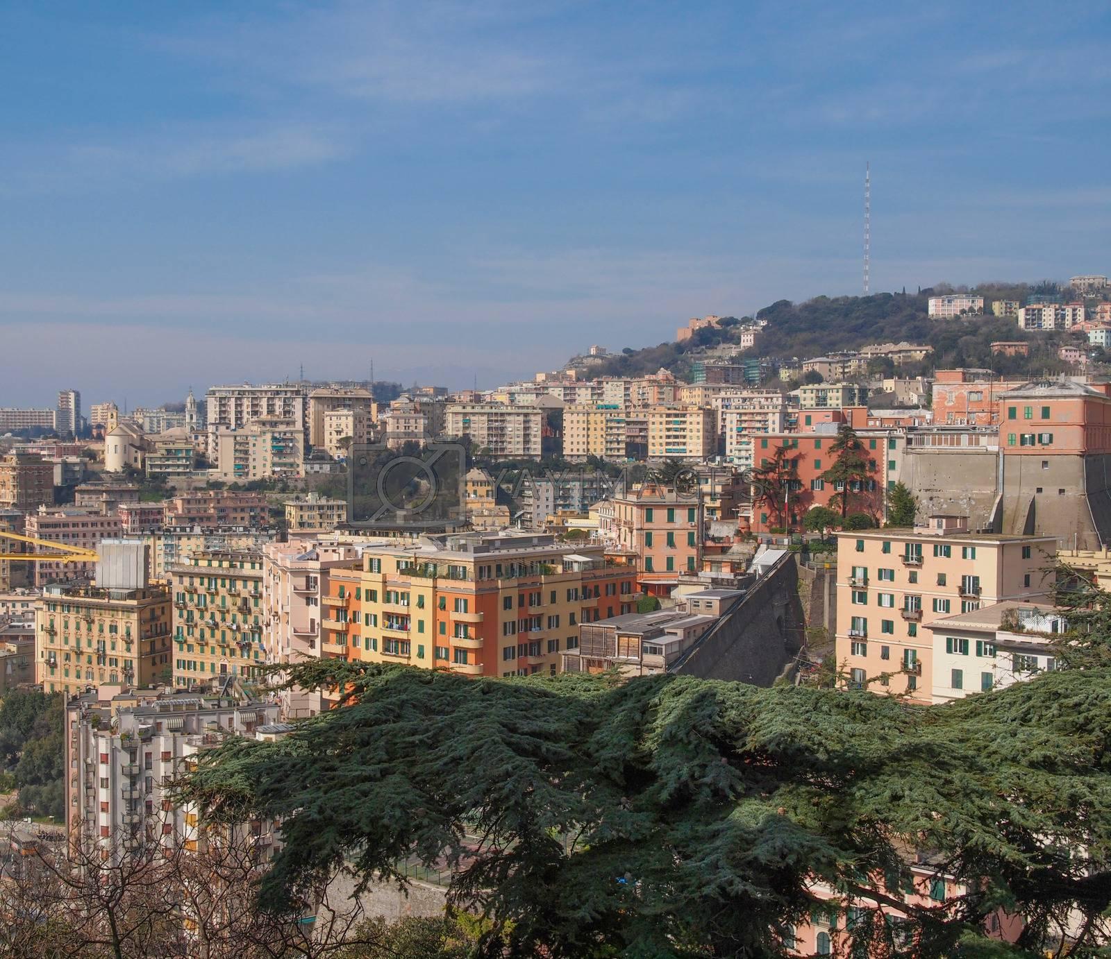 View of Genoa Italy by claudiodivizia