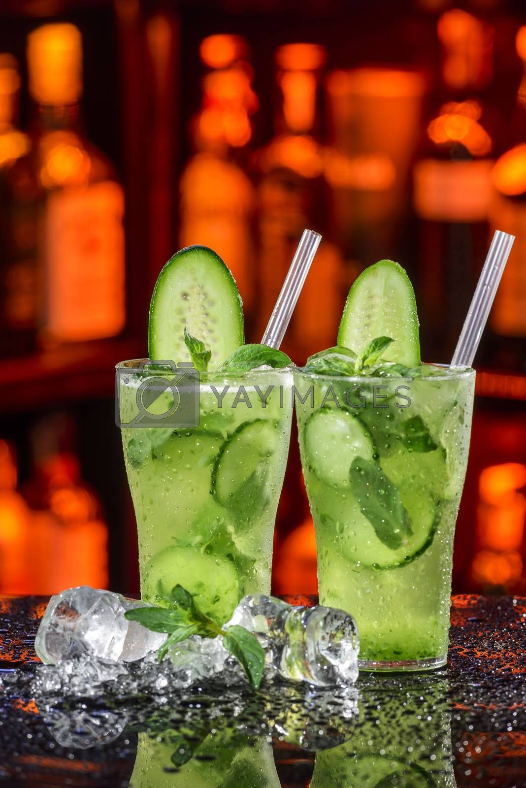 Royalty free image of cucumber cocktail by emirkoo