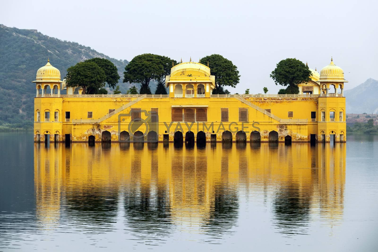 Royalty free image of Water Palace (Jal Mahal) in Man Sagar Lake. Jaipur, Rajasthan, I by meinzahn