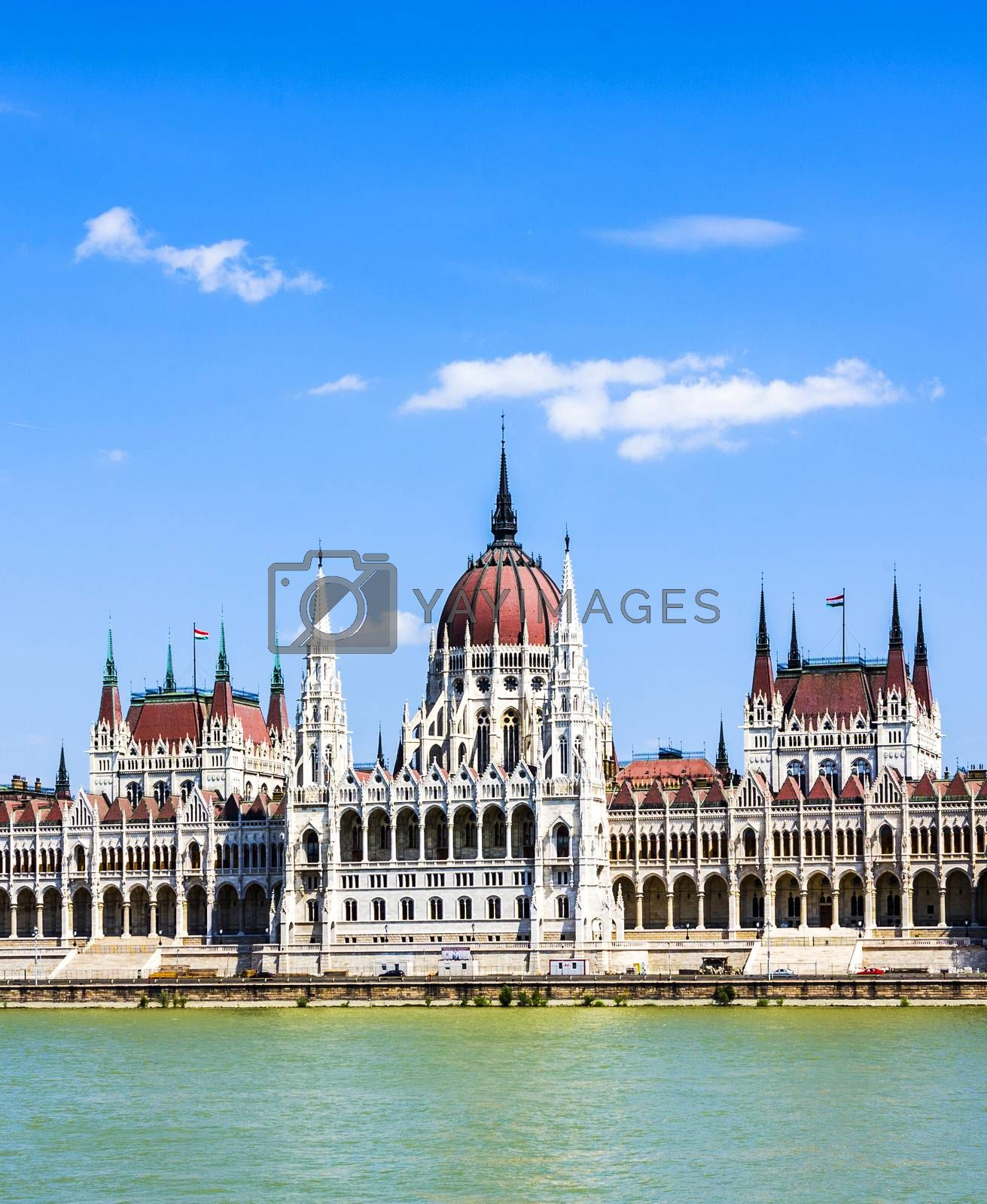Royalty free image of famous parliament of Hungary in Budapest, view over river danubia by meinzahn