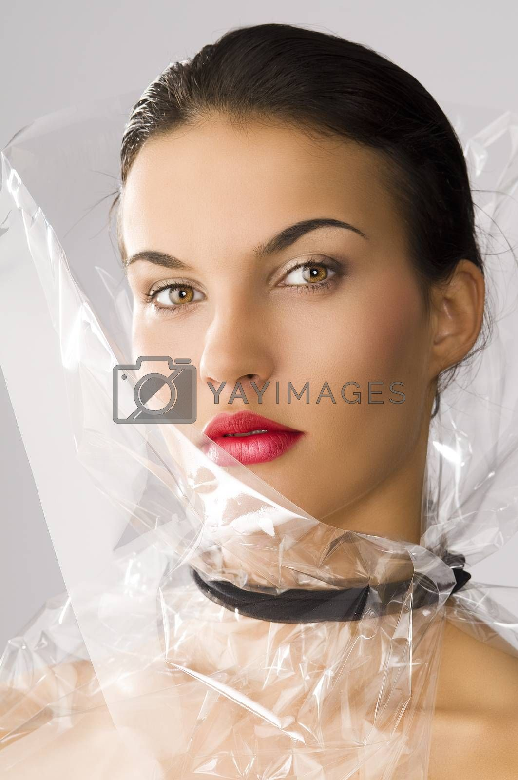 Royalty free image of beauty style she is turned of three quarters by fotoCD