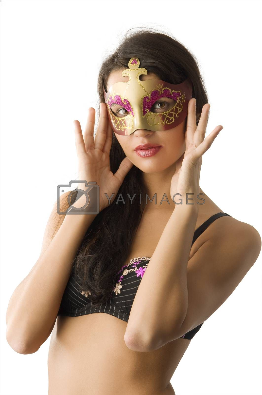 Royalty free image of mask and lingerie by fotoCD