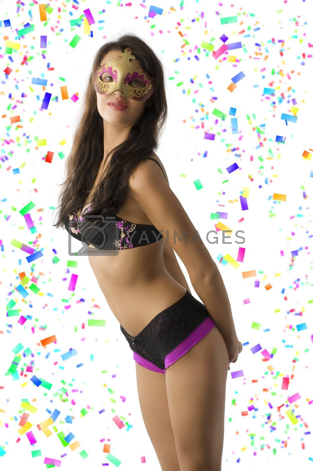 Royalty free image of sexy girl in carnival  by fotoCD