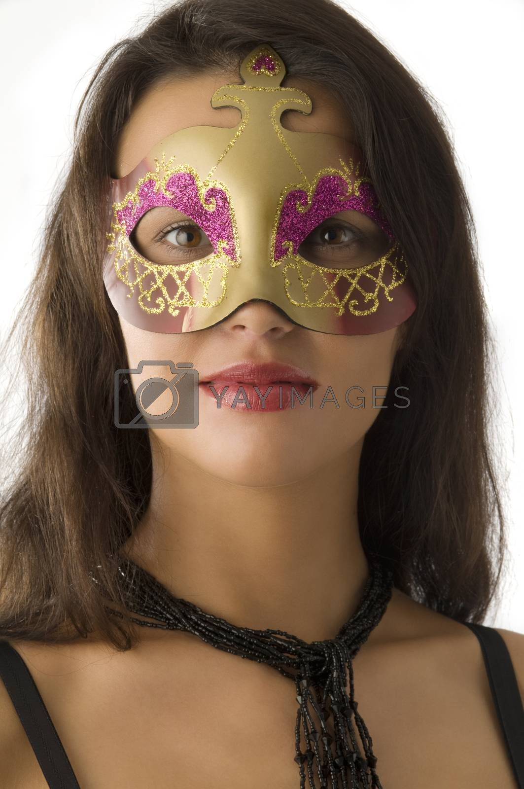 Royalty free image of portrait with mask by fotoCD