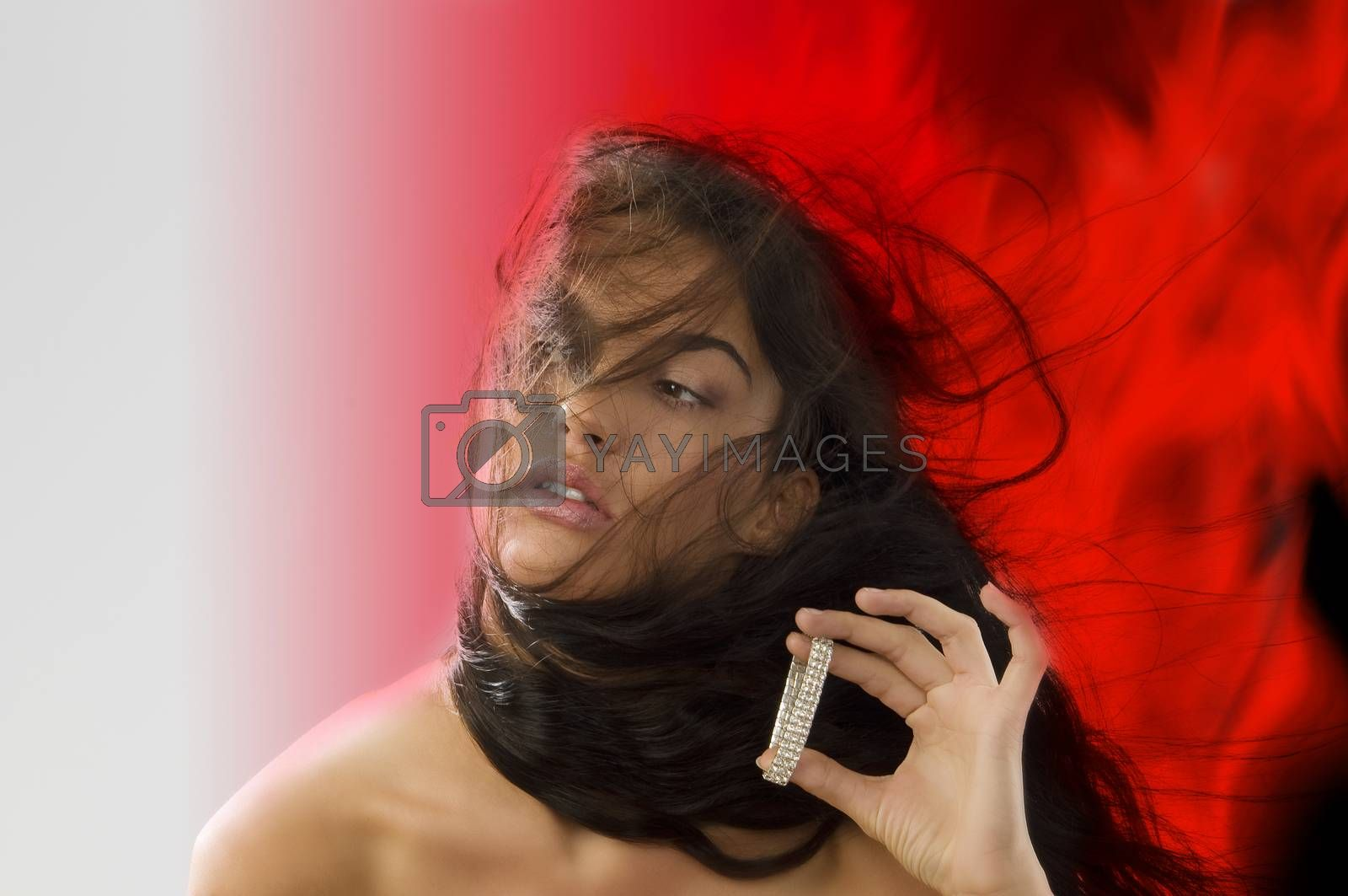 Royalty free image of blowing wind by fotoCD