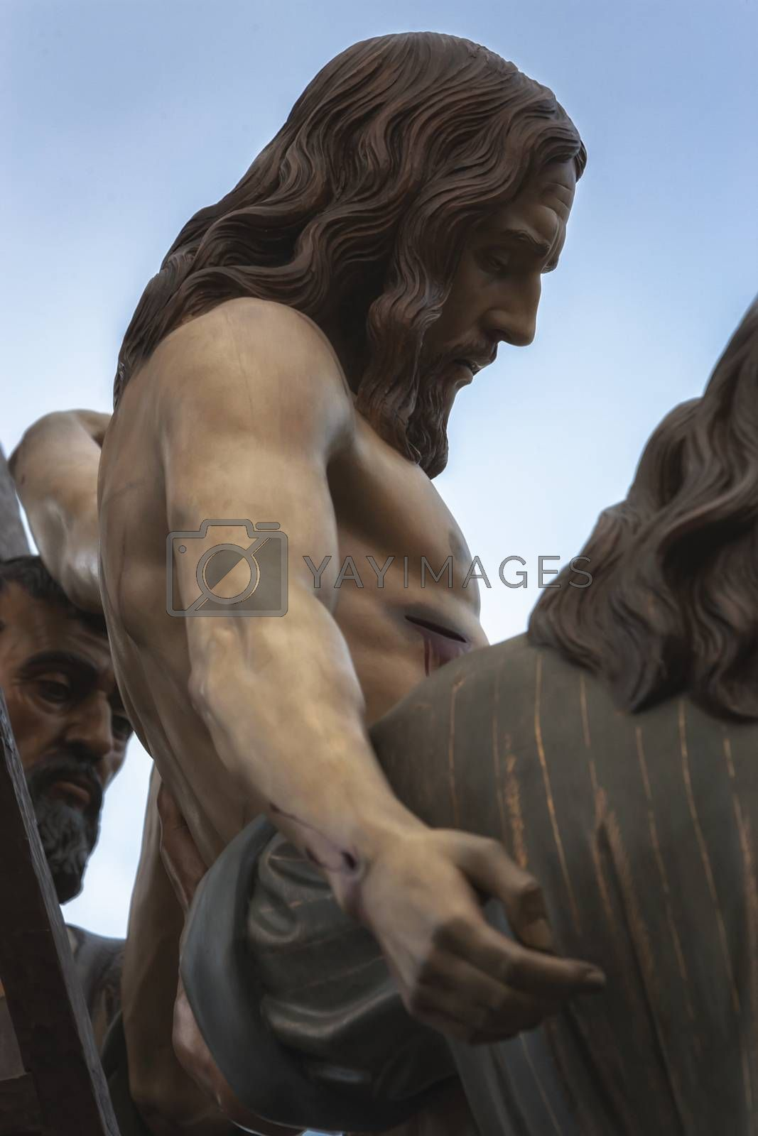 Royalty free image of Brotherhood of the Holy Christ of the descent, Linares, Jaen province, Andalusia, Spain by digicomphoto