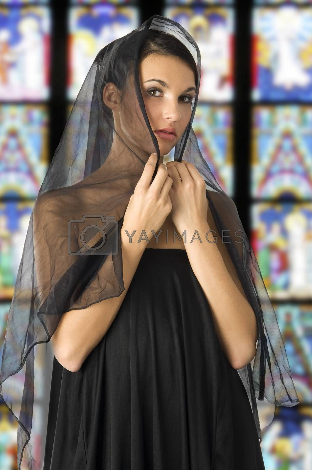 Royalty free image of black veil by fotoCD