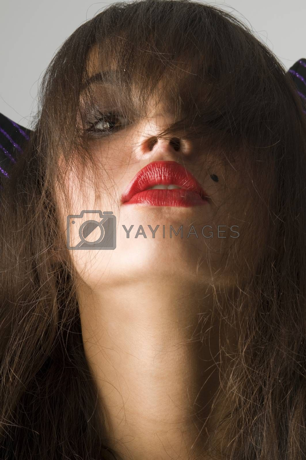 Royalty free image of black hair by fotoCD