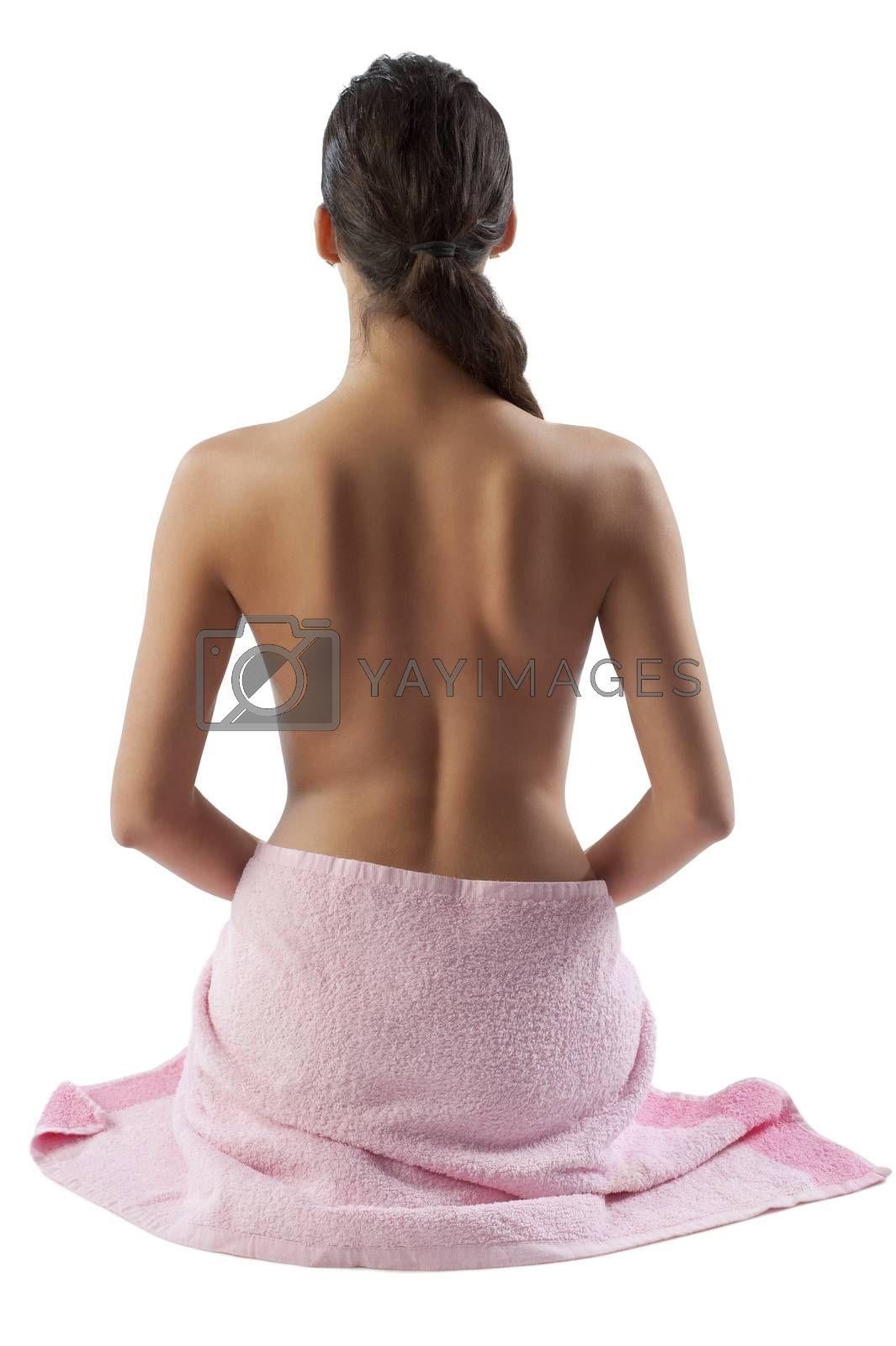 Royalty free image of beautiful nude woman showing her back by fotoCD