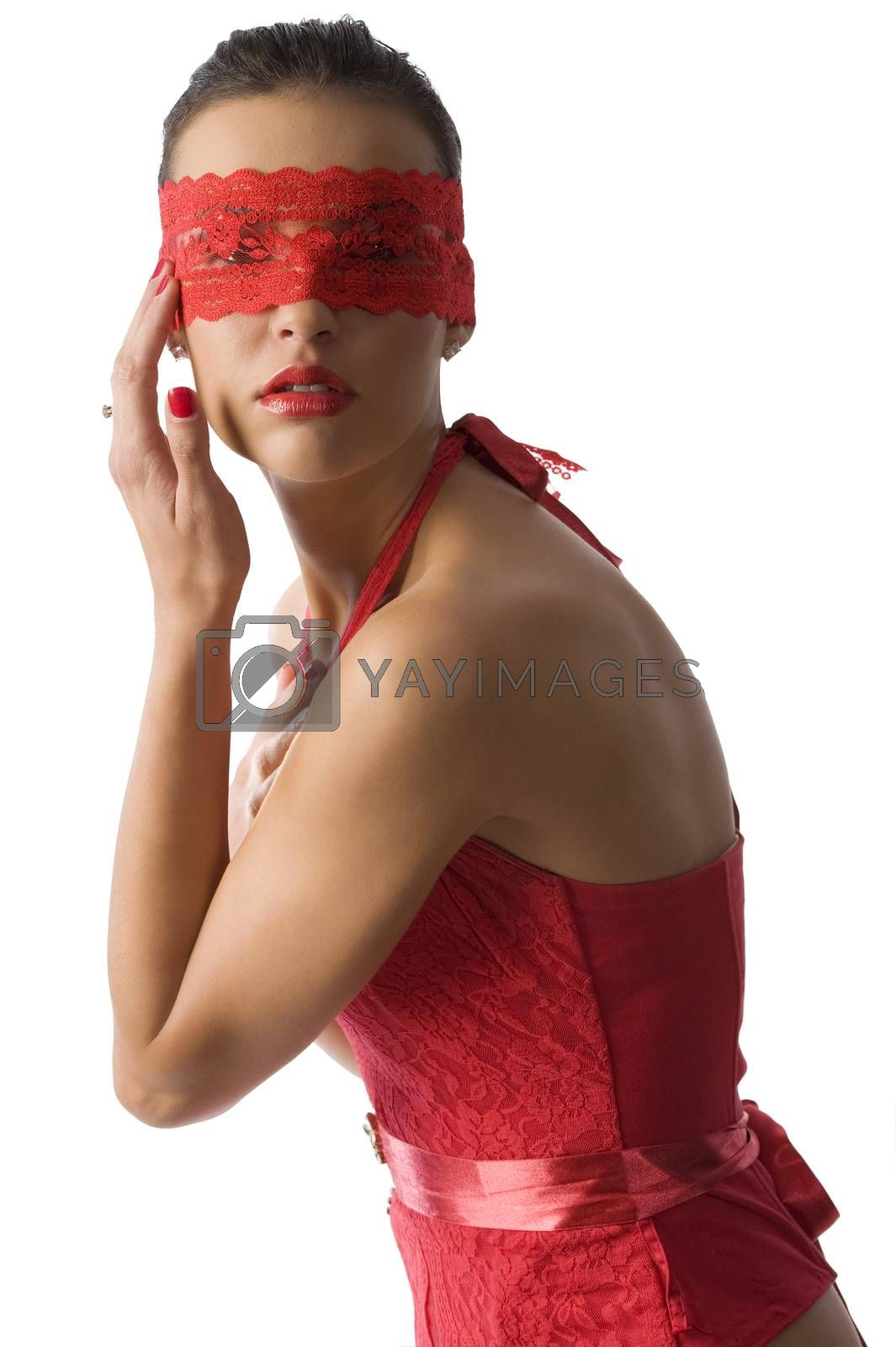 Royalty free image of red lace mask by fotoCD