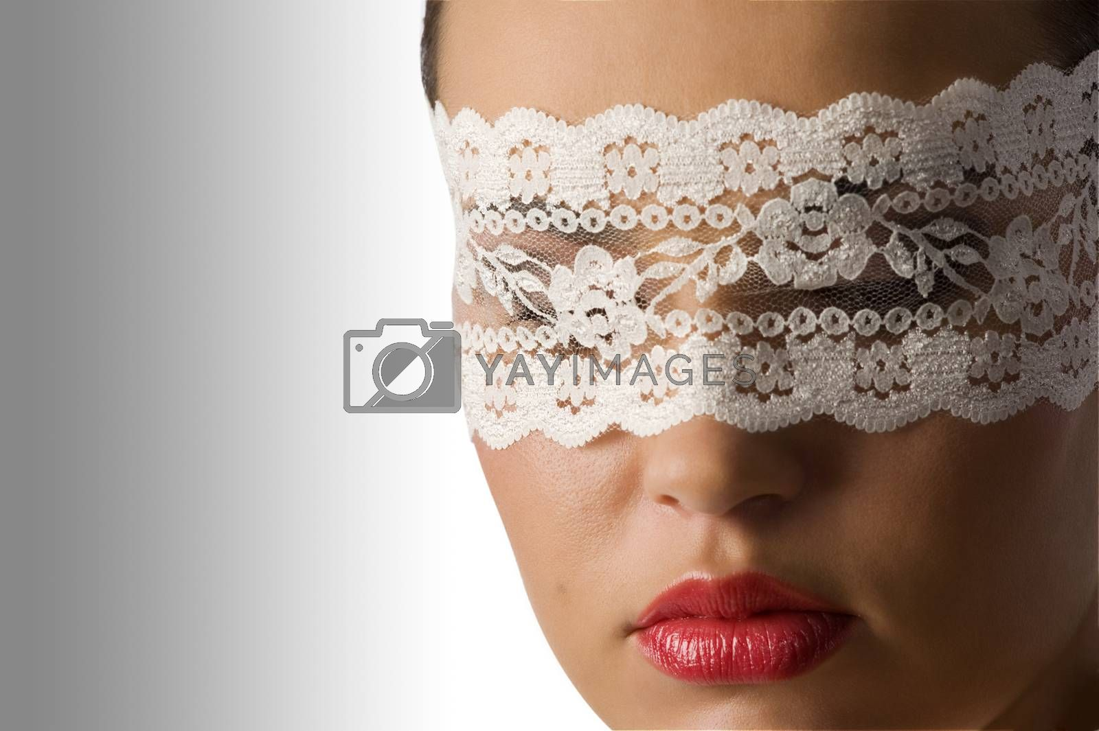 Royalty free image of close up with mask by fotoCD