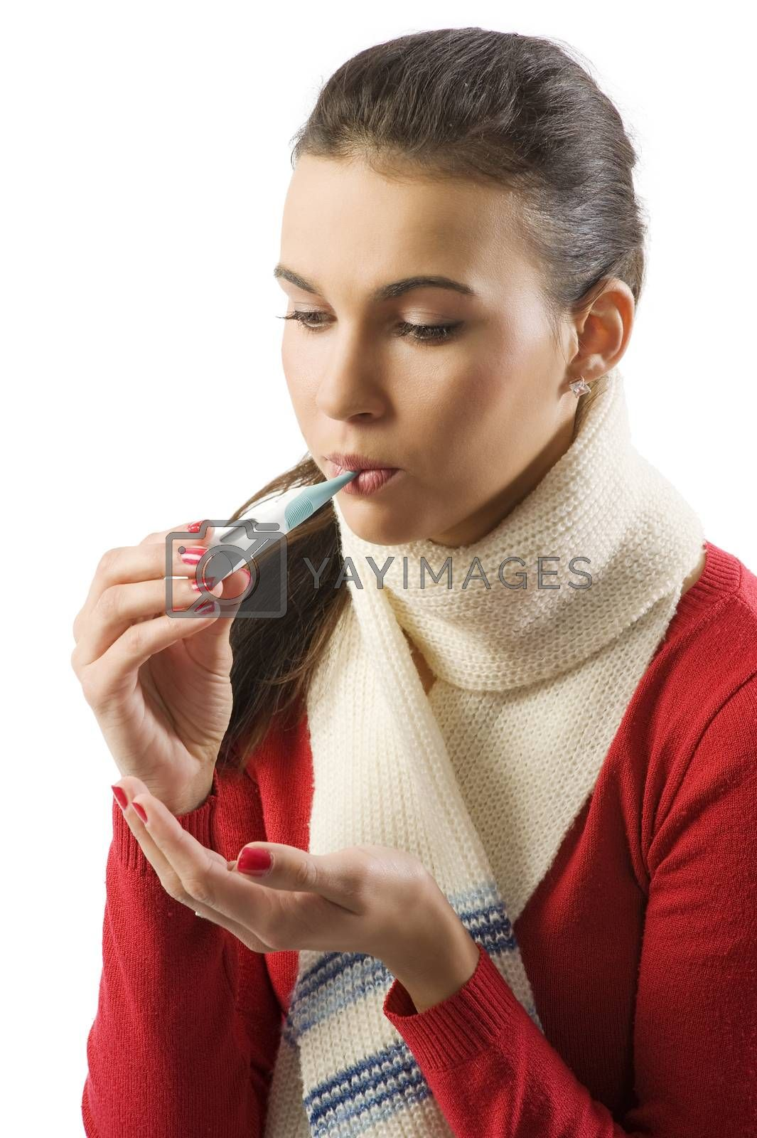 Royalty free image of getting the cold by fotoCD