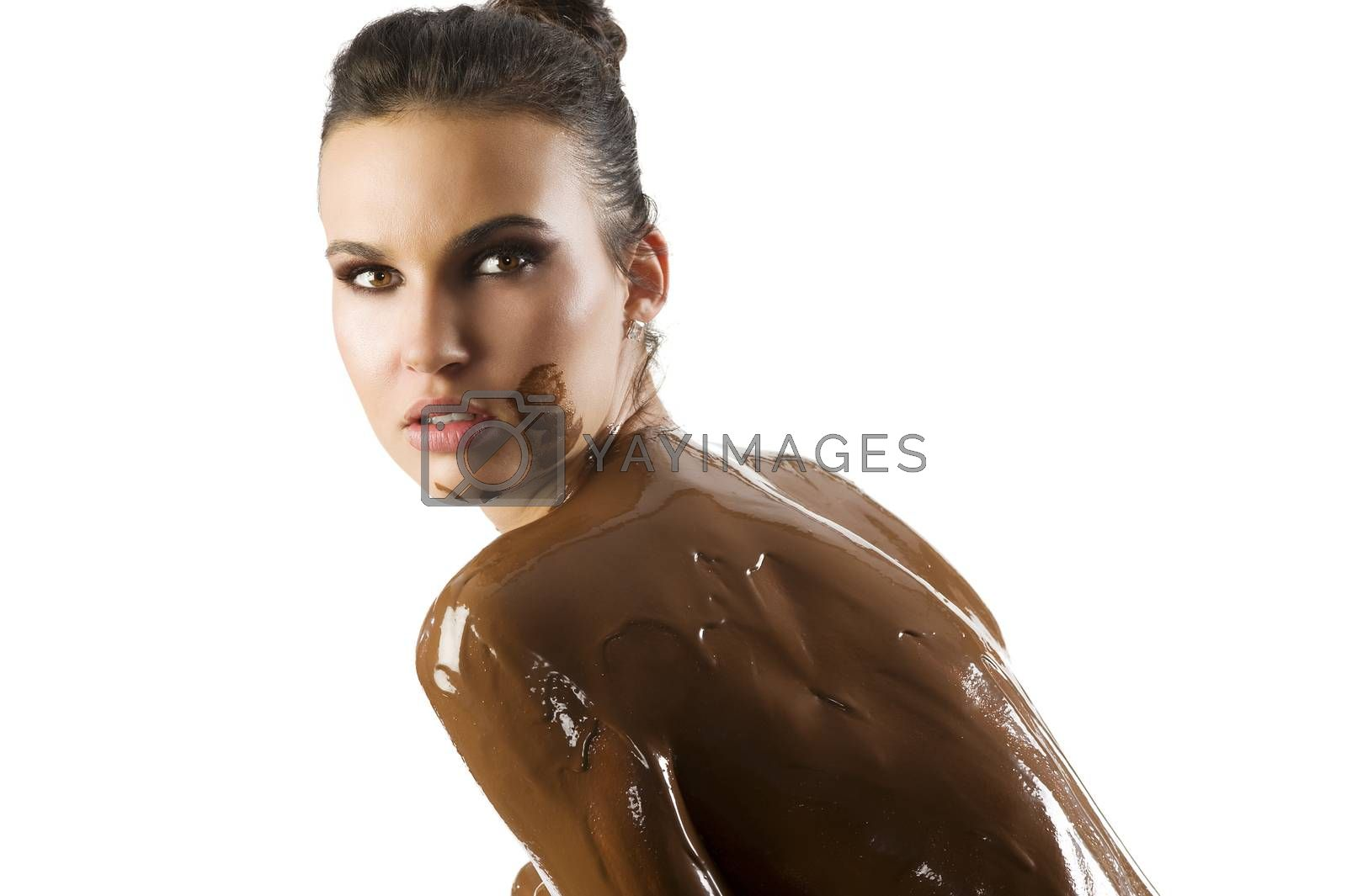 Royalty free image of the chocolate girl by fotoCD