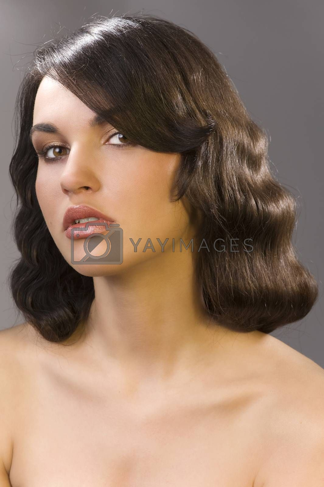 Royalty free image of the old fashion coiffure by fotoCD