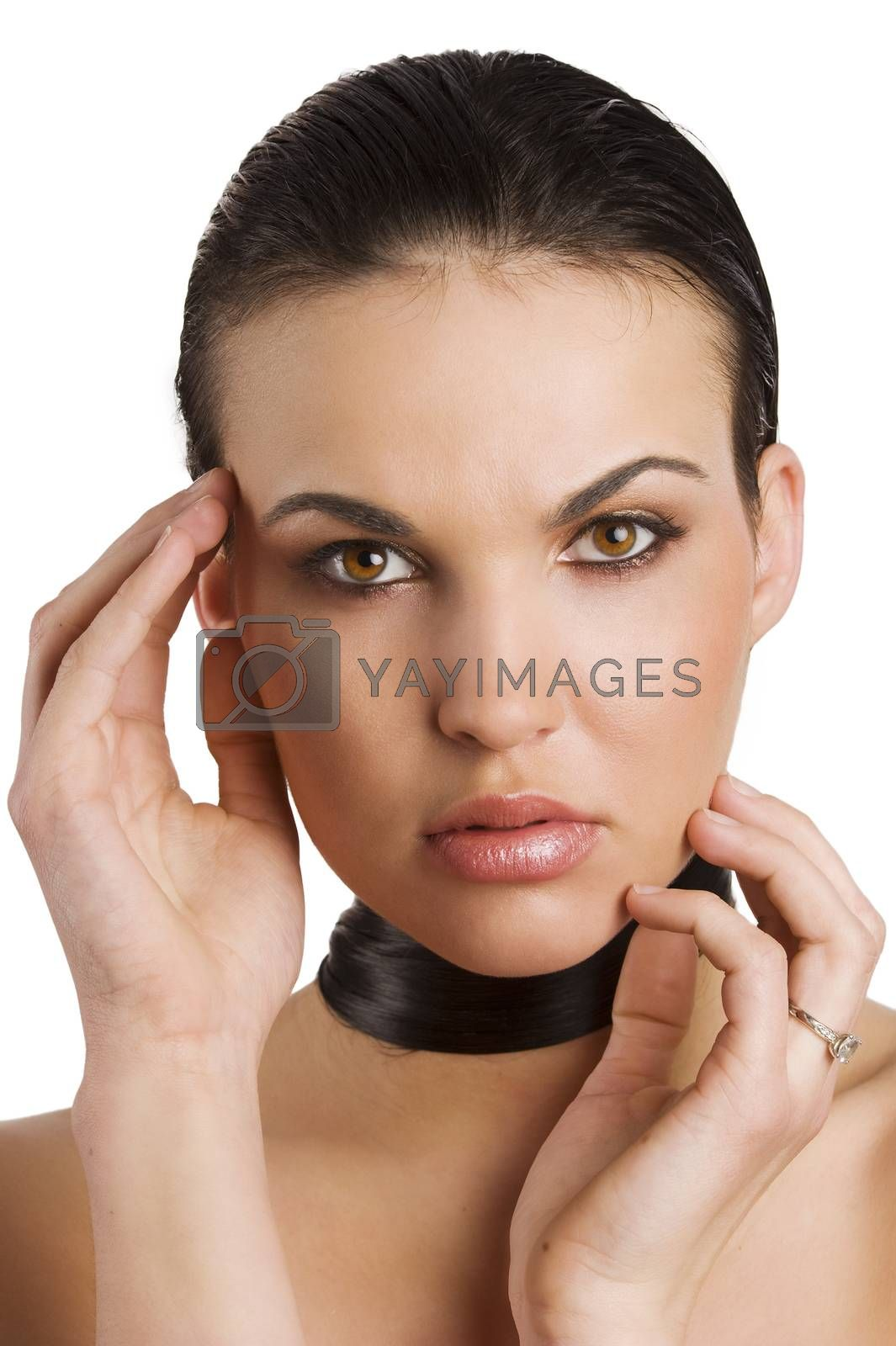 Royalty free image of model taking pose by fotoCD